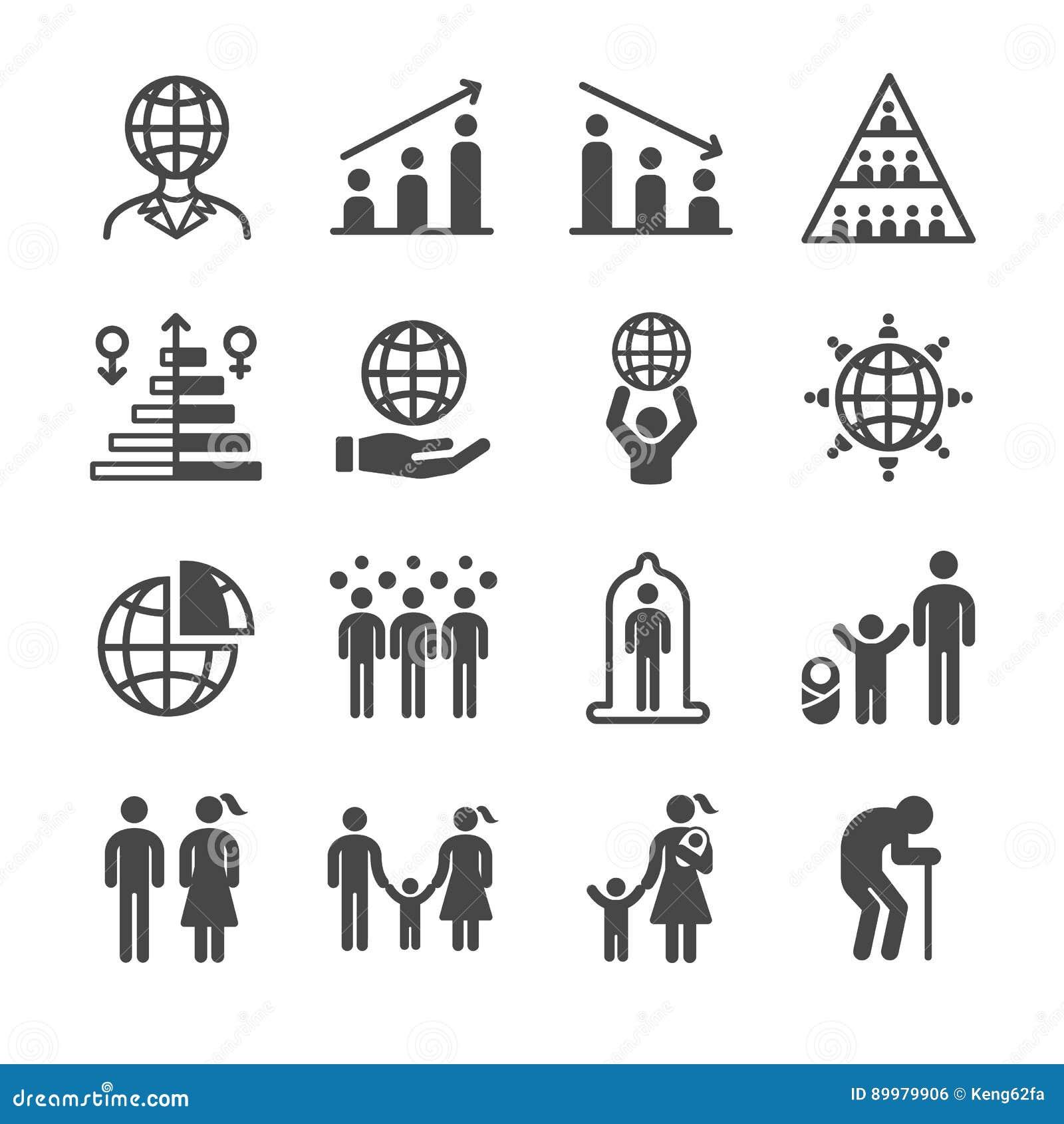 Iconos de la población y del ciudadano