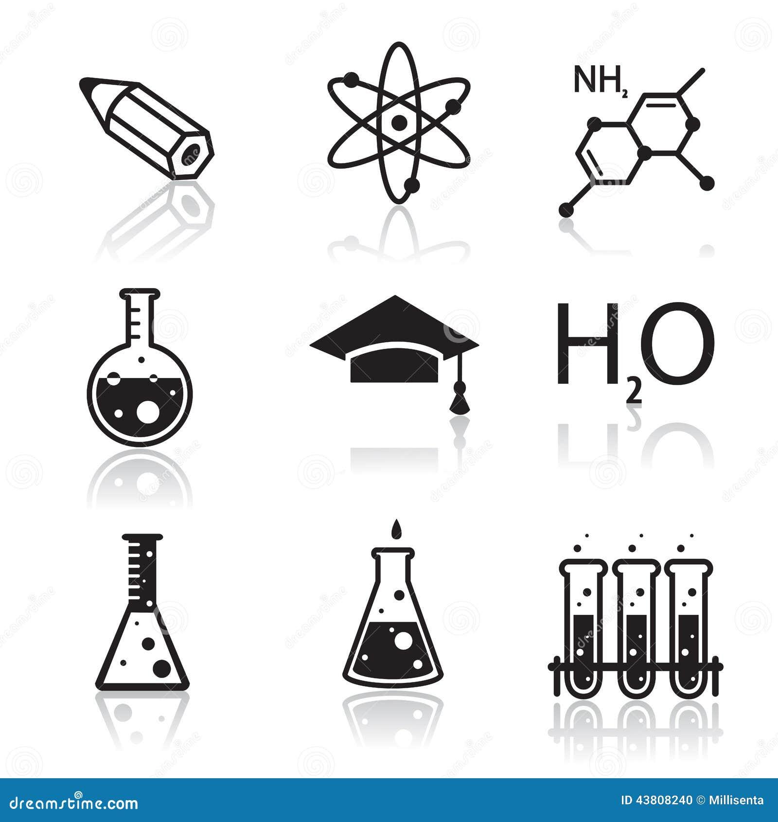 Iconos De La Química Para Aprender Y Las Aplicaciones Web