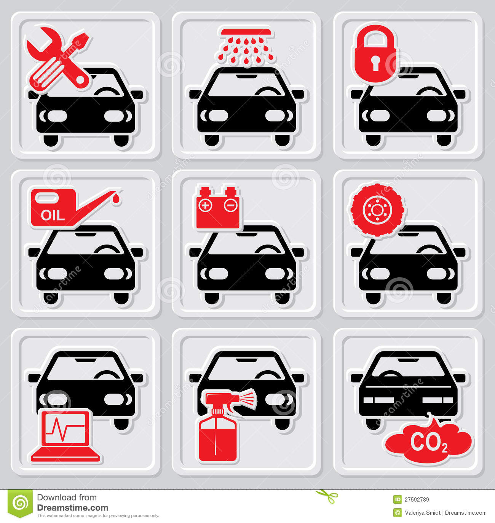 Iconos de la reparación auto