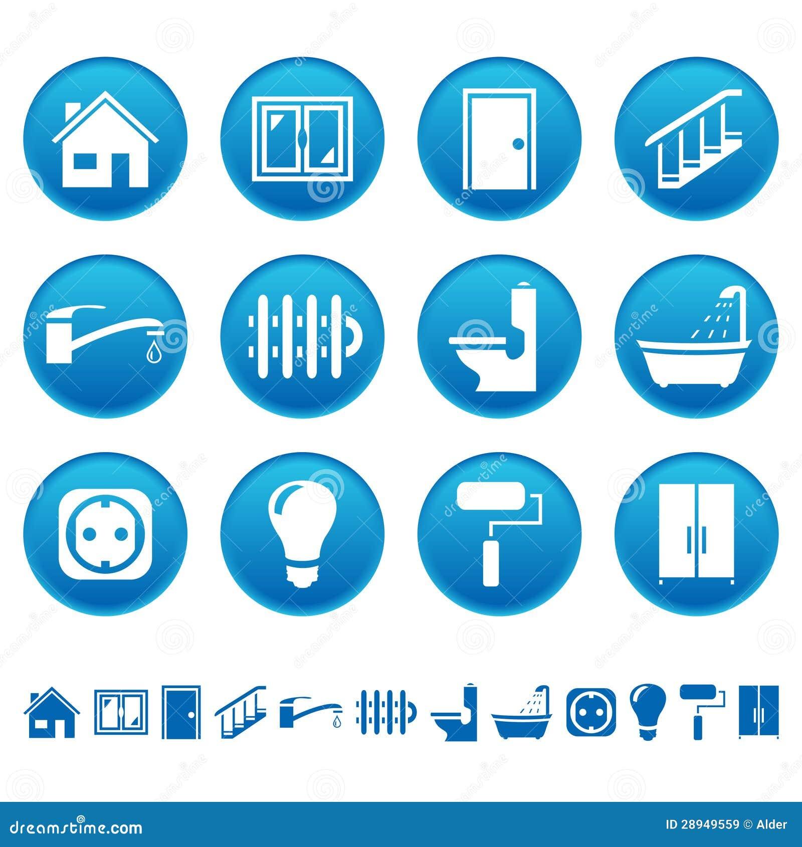 Iconos de la reparación de la casa