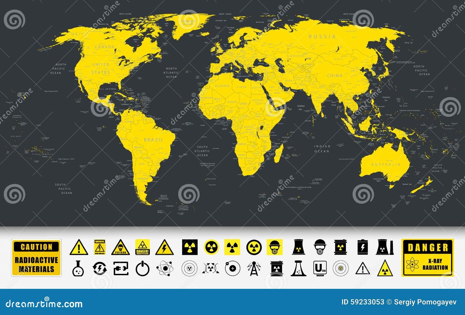 Download Iconos De La Tecnología Del Mapa Del Mundo Y De La Energía Atómica Ilustración del Vector - Ilustración de colección, pista: 59233053