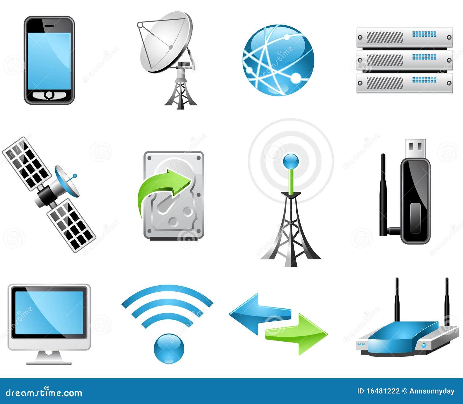 Iconos de la tecnología inalámbrica