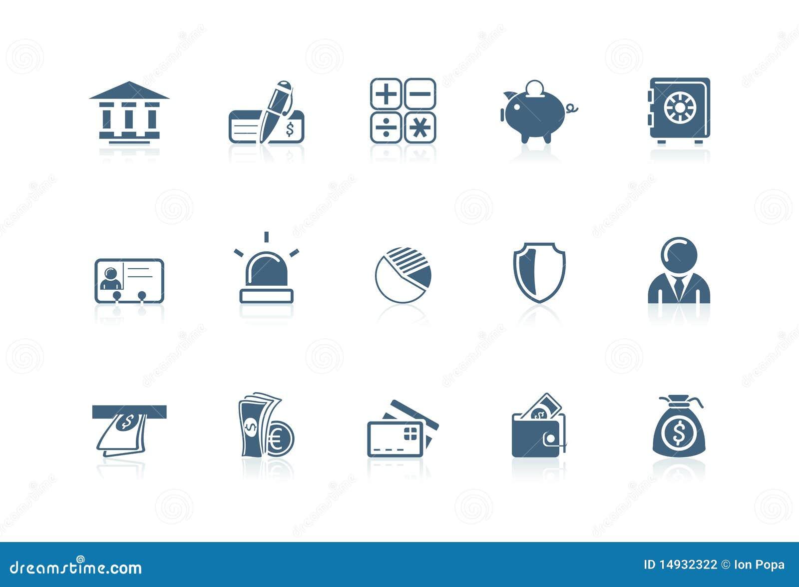 Iconos de las actividades bancarias