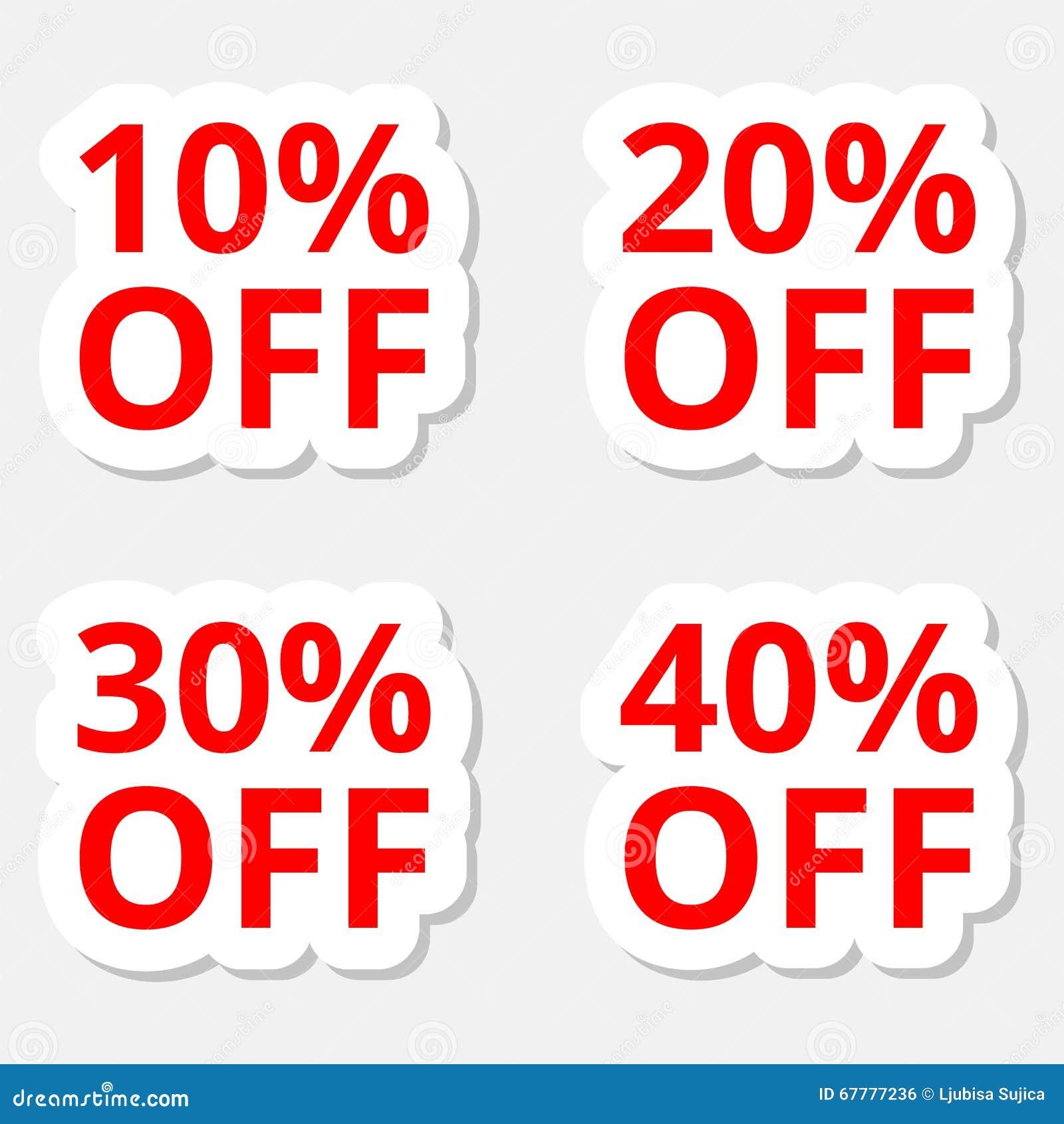 Iconos de las etiquetas engomadas del descuento de la venta Muestras del  precio de oferta especial f4d43c66cc0