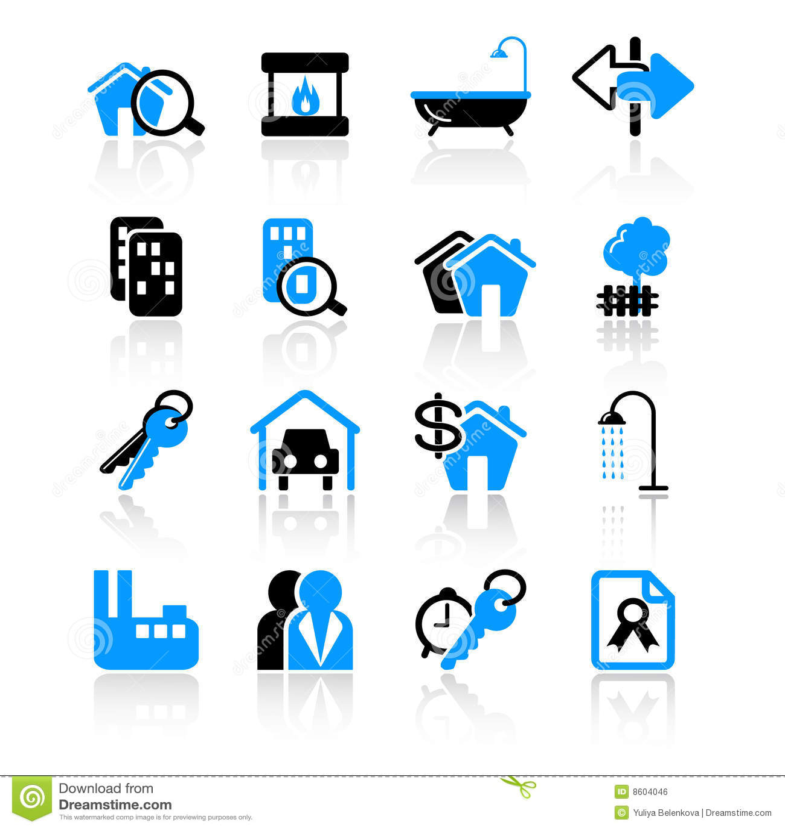 Iconos de las propiedades inmobiliarias