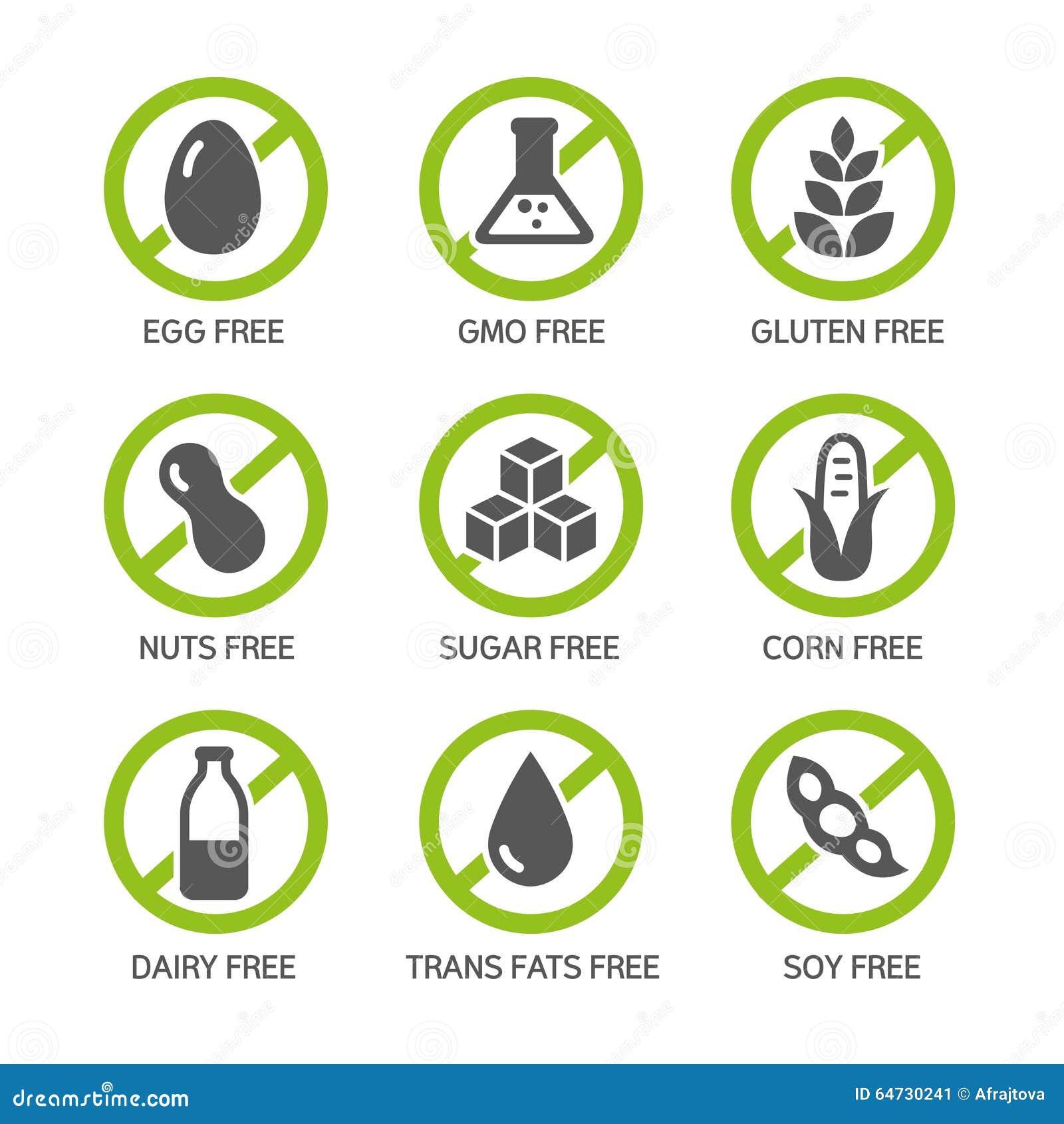 Iconos de los alergénicos