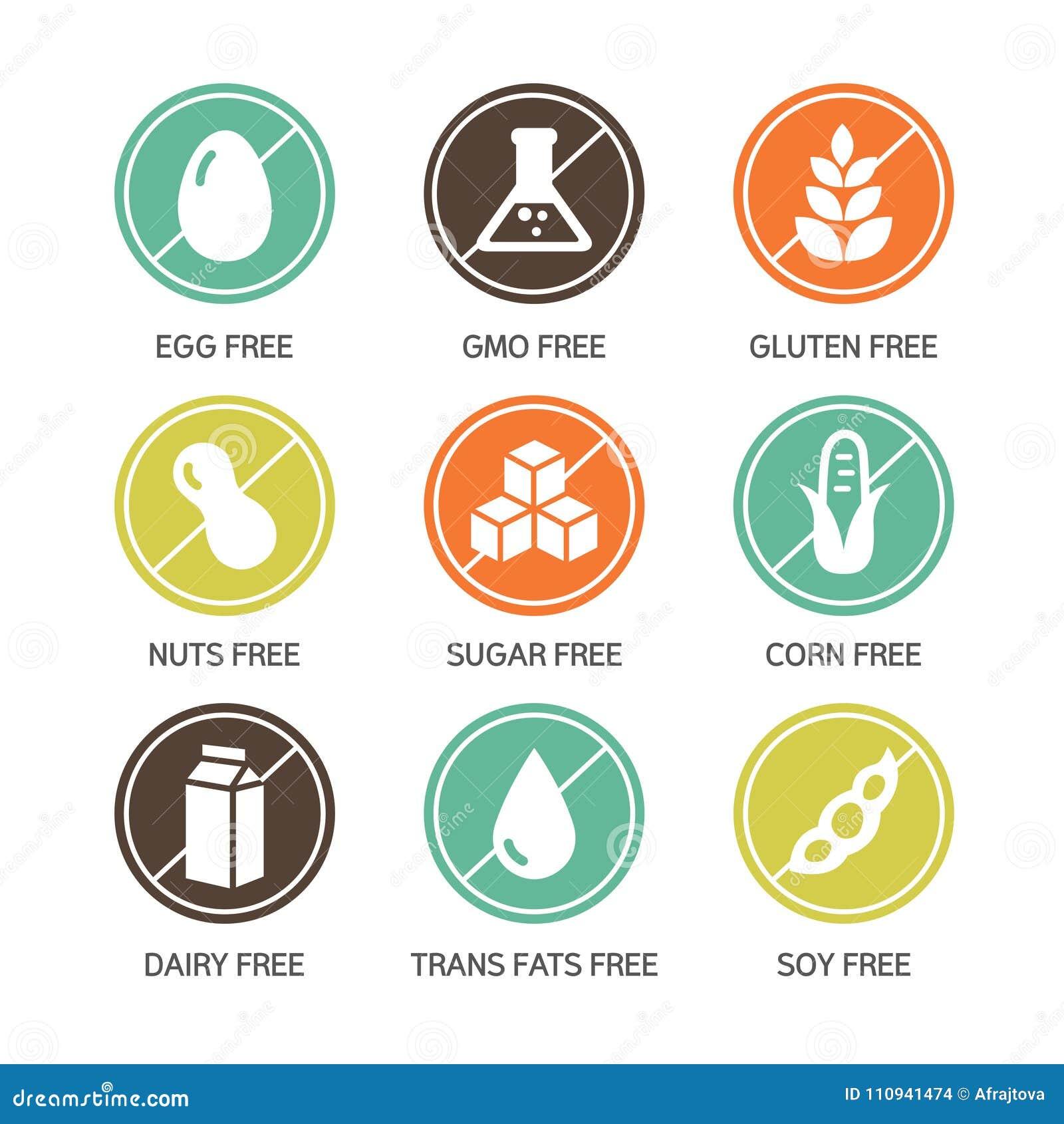 Iconos de los alergénicos - símbolos