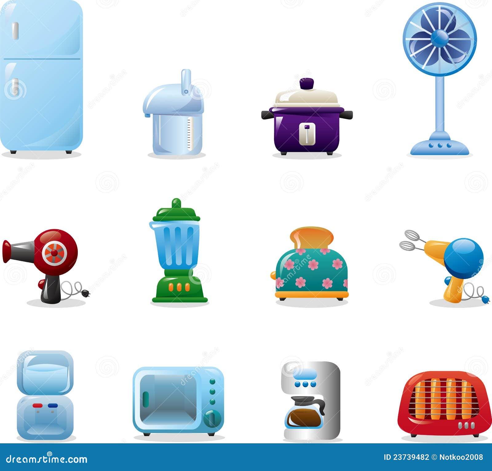 Iconos de los aparatos electrodom sticos fotograf a de - Lo ultimo en electrodomesticos ...