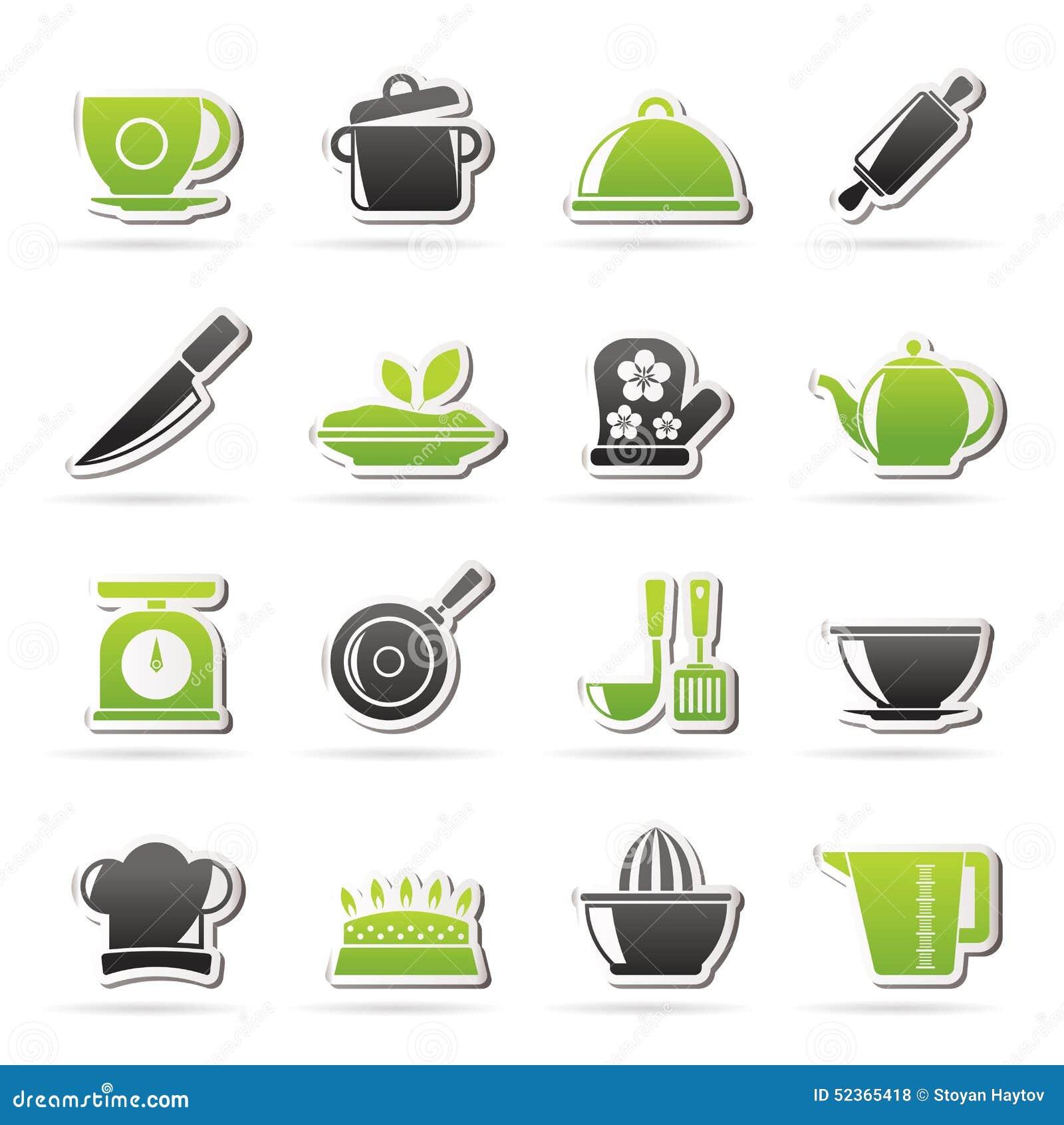Iconos de los art culos del restaurante y de la cocina for Articulos para restaurantes