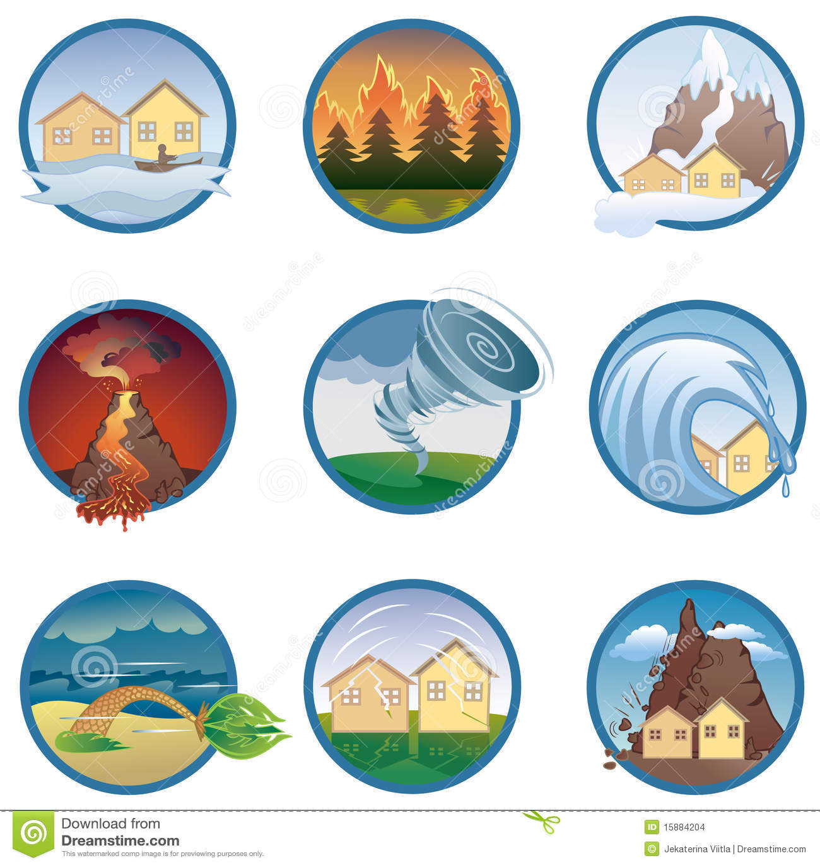 iconos de los desastres naturales ilustraci u00f3n del vector natural resources images clipart natural resources clipart