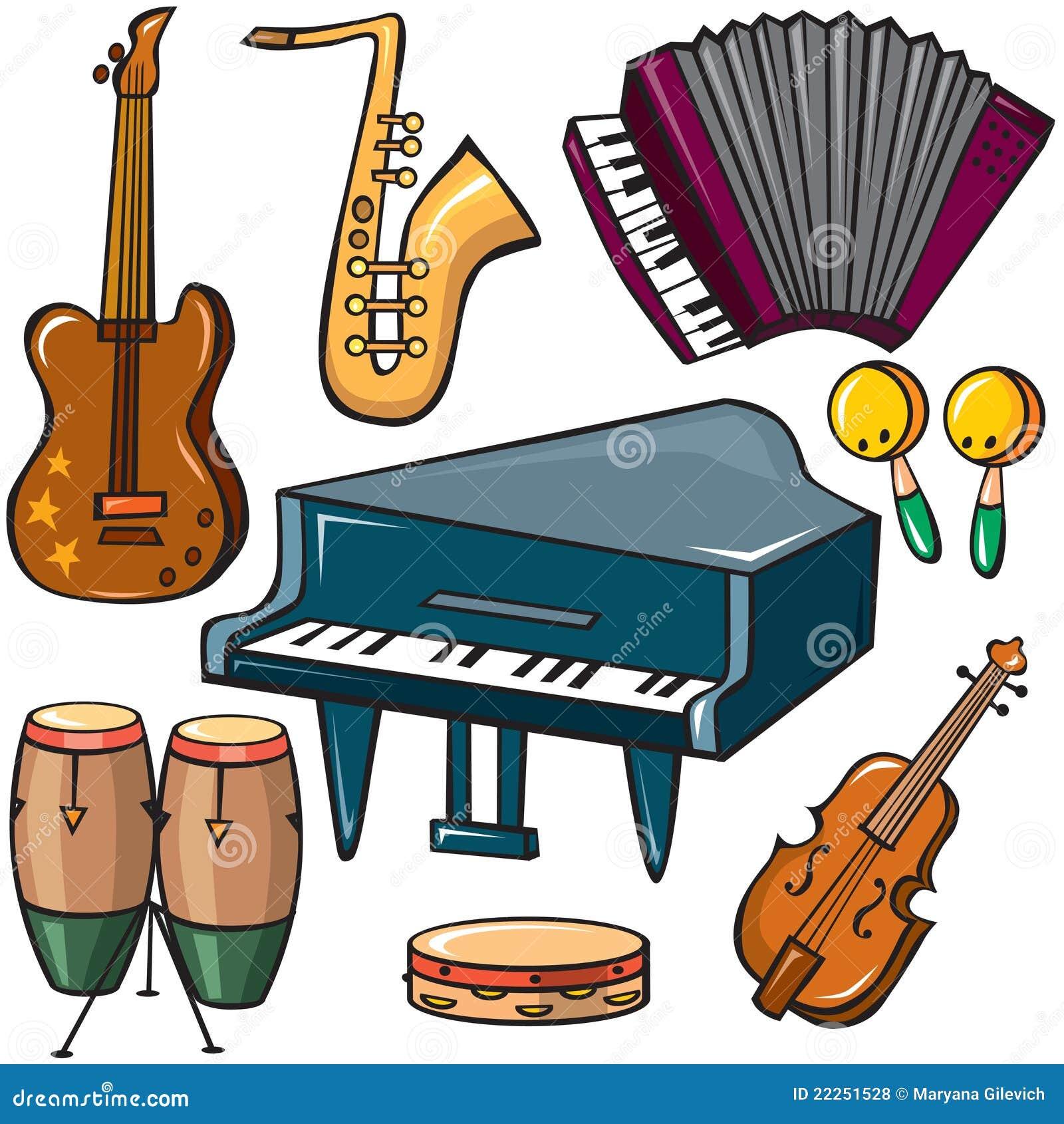 Iconos de los instrumentos musicales fijados ilustraci n del vector ilustraci n de teclados - Instrumentos musicales leganes ...