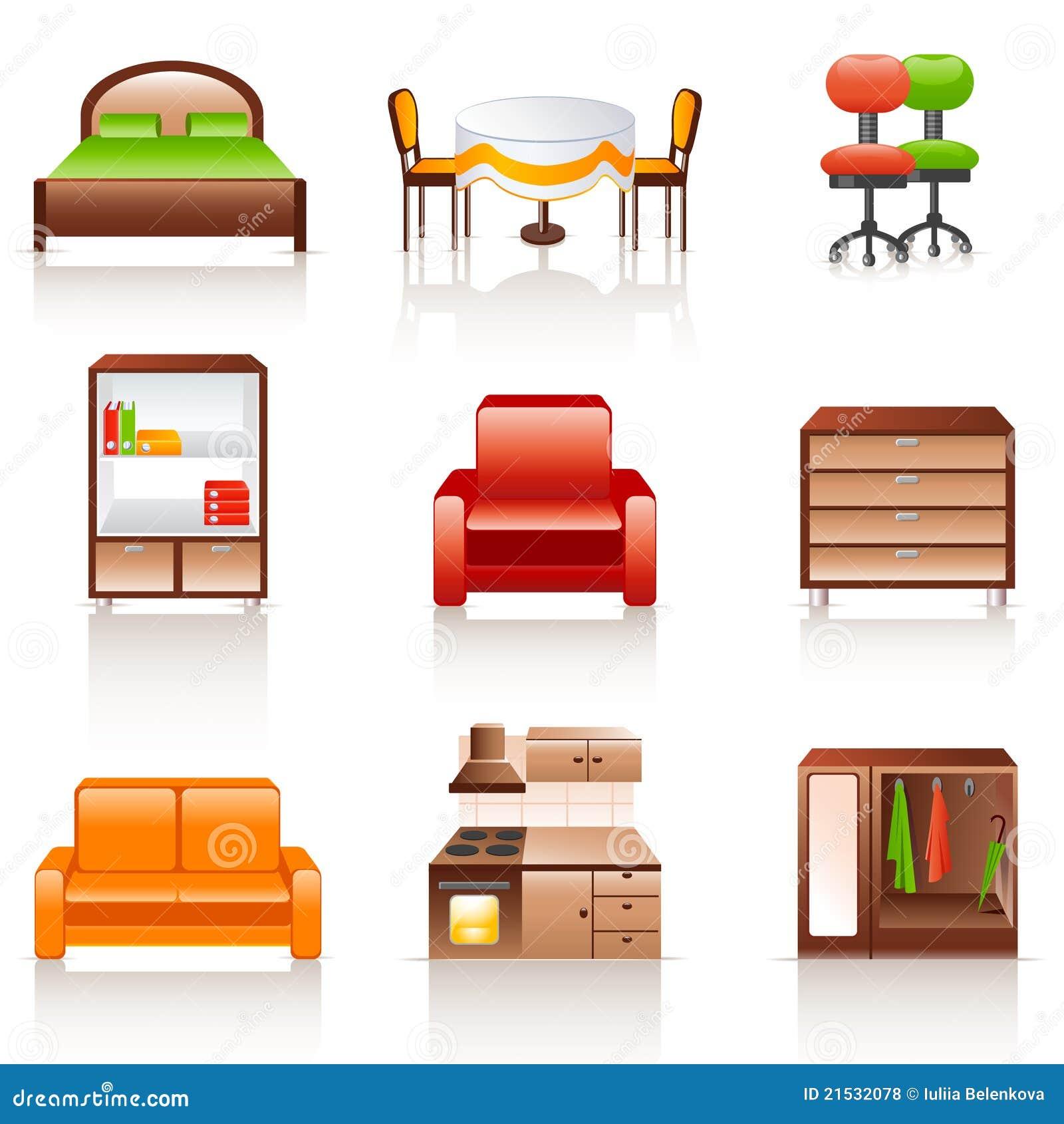 Iconos De Los Muebles Ilustraci N Del Vector Ilustraci N De Pared  # Los Muebles Powerpoint