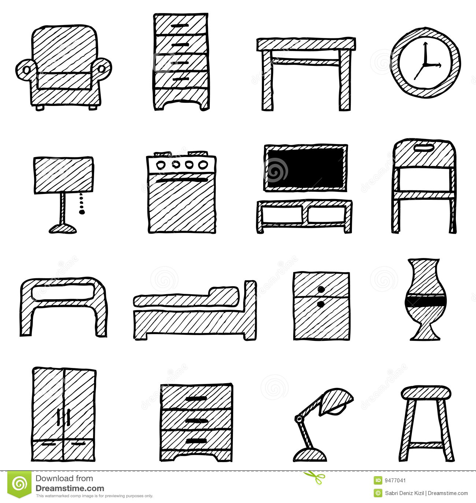 Iconos de los muebles ilustraci n del vector ilustraci n - Muebles en las rozas europolis ...