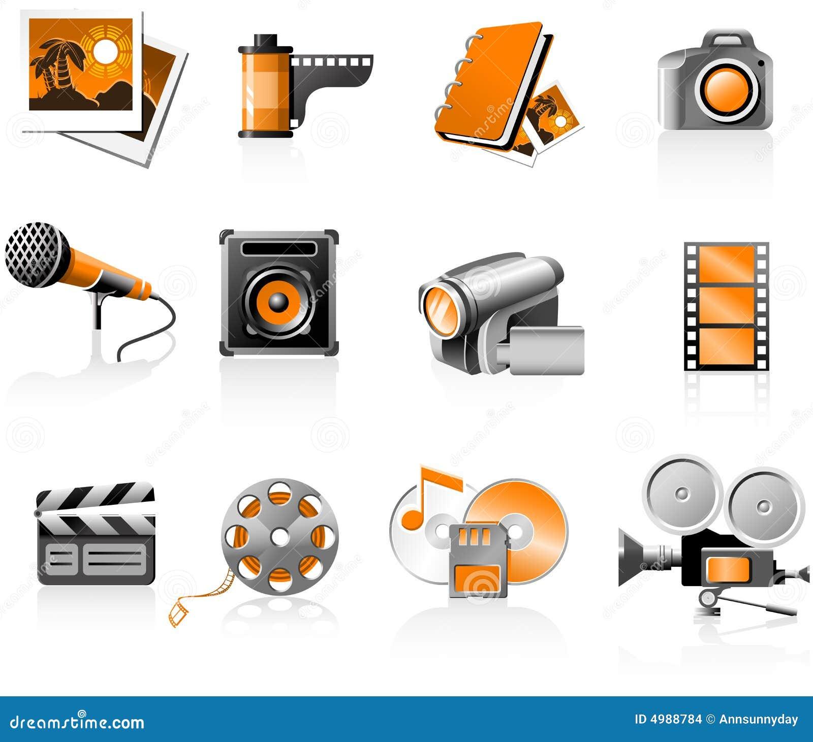 Iconos de los multimedia fijados