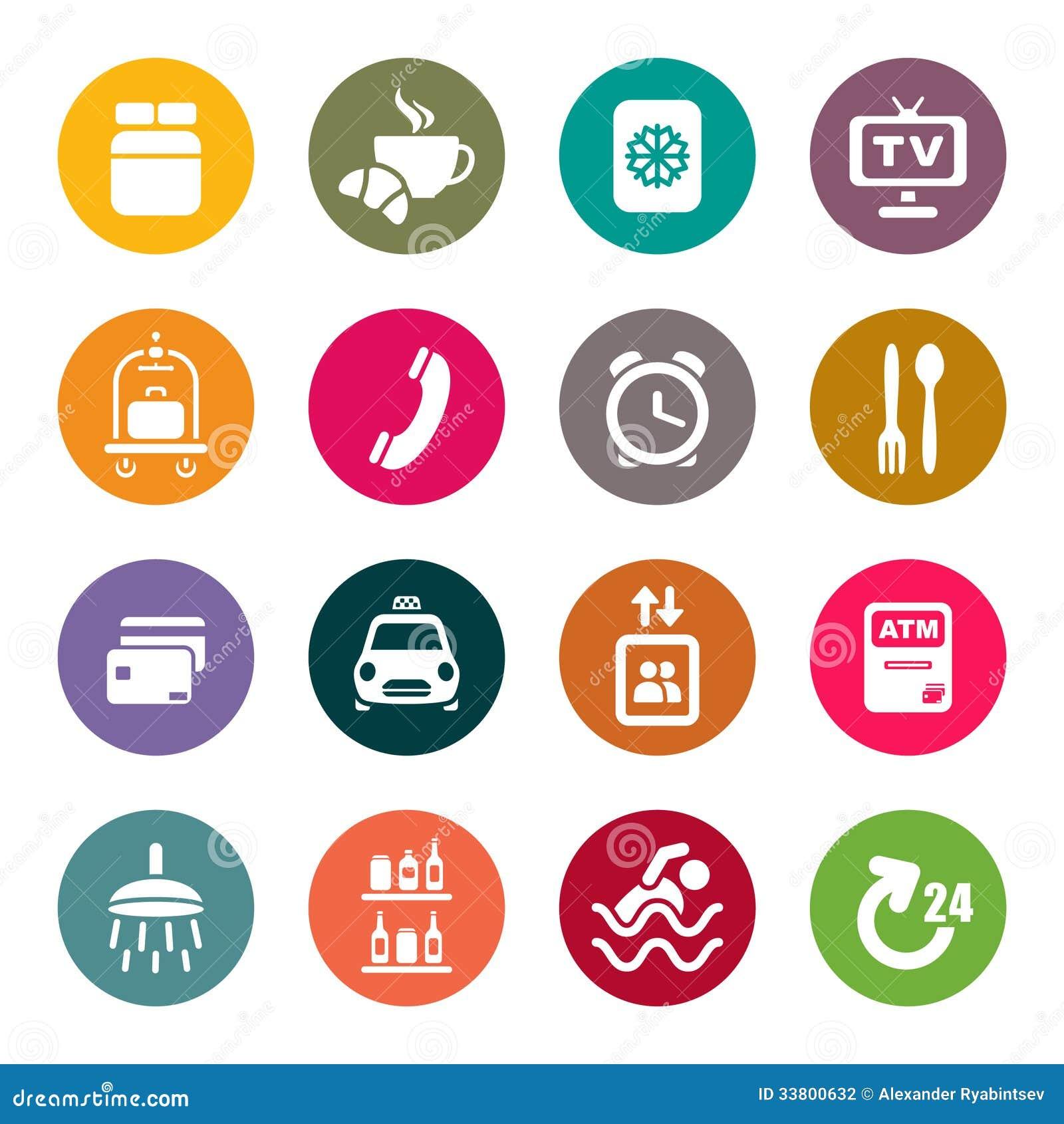 Iconos de los servicios de hotel stock de ilustraci n for Tipos de servicios de un hotel
