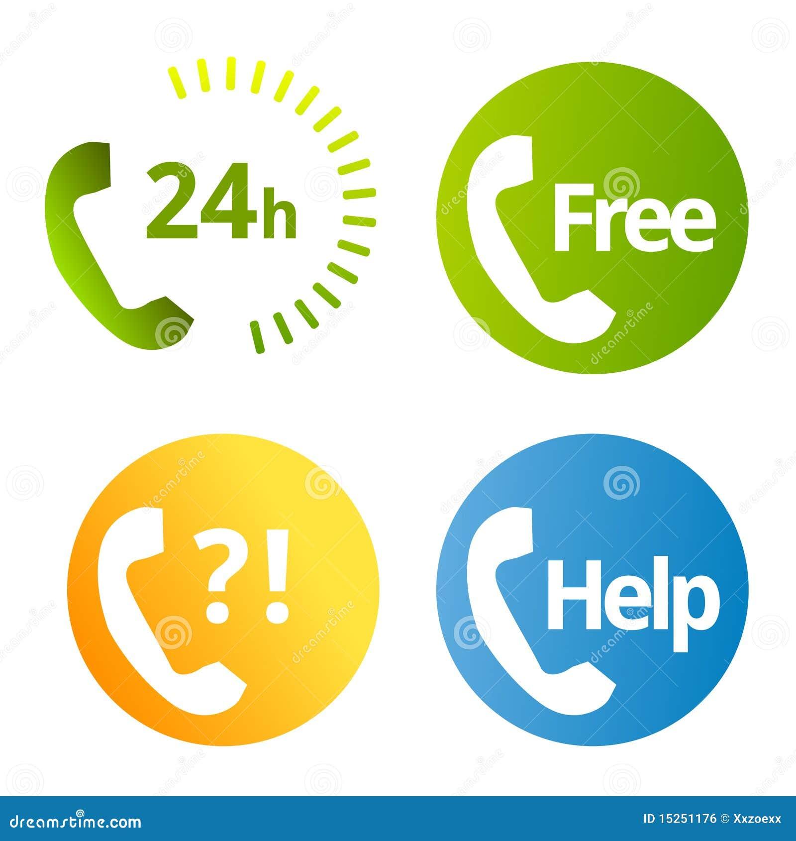 Iconos de los servicios de teléfono