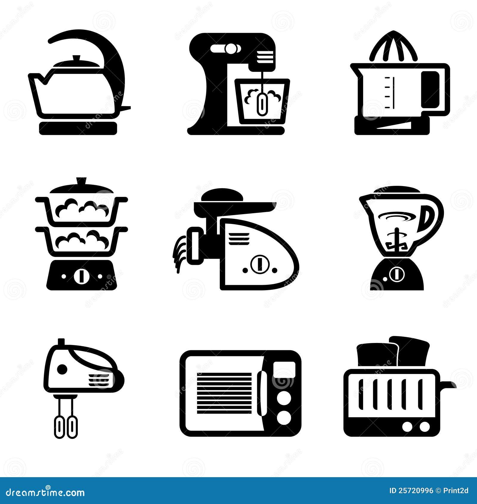 Iconos de los utensilios de cocina imagen de archivo libre for Remates articulos de cocina