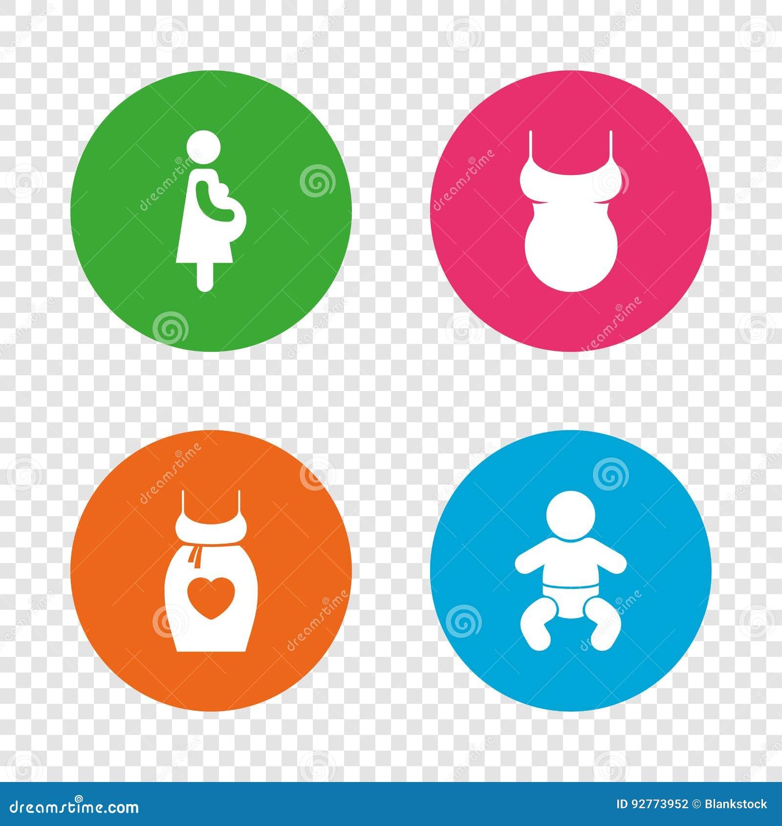 952741e9e Iconos De Maternidad Niño Del Bebé