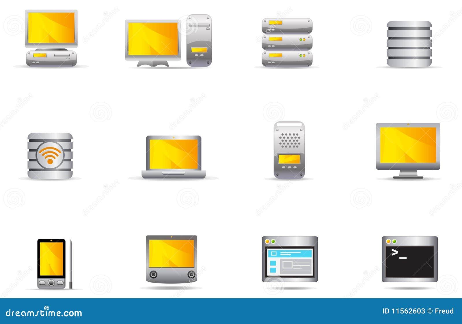 Iconos de Philos - conjunto 16   Ordenador y servidor