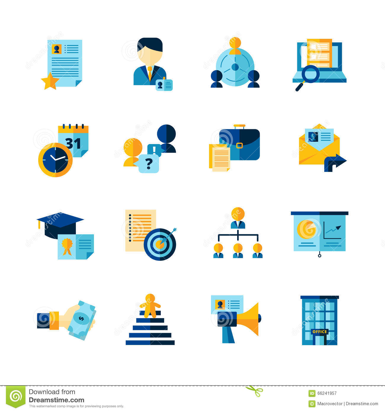 9b857766626f7 Iconos decorativos del color plano del curriculum vitae fijados. Download  preview. Añada al lightbox DESCARGA GRATUITA