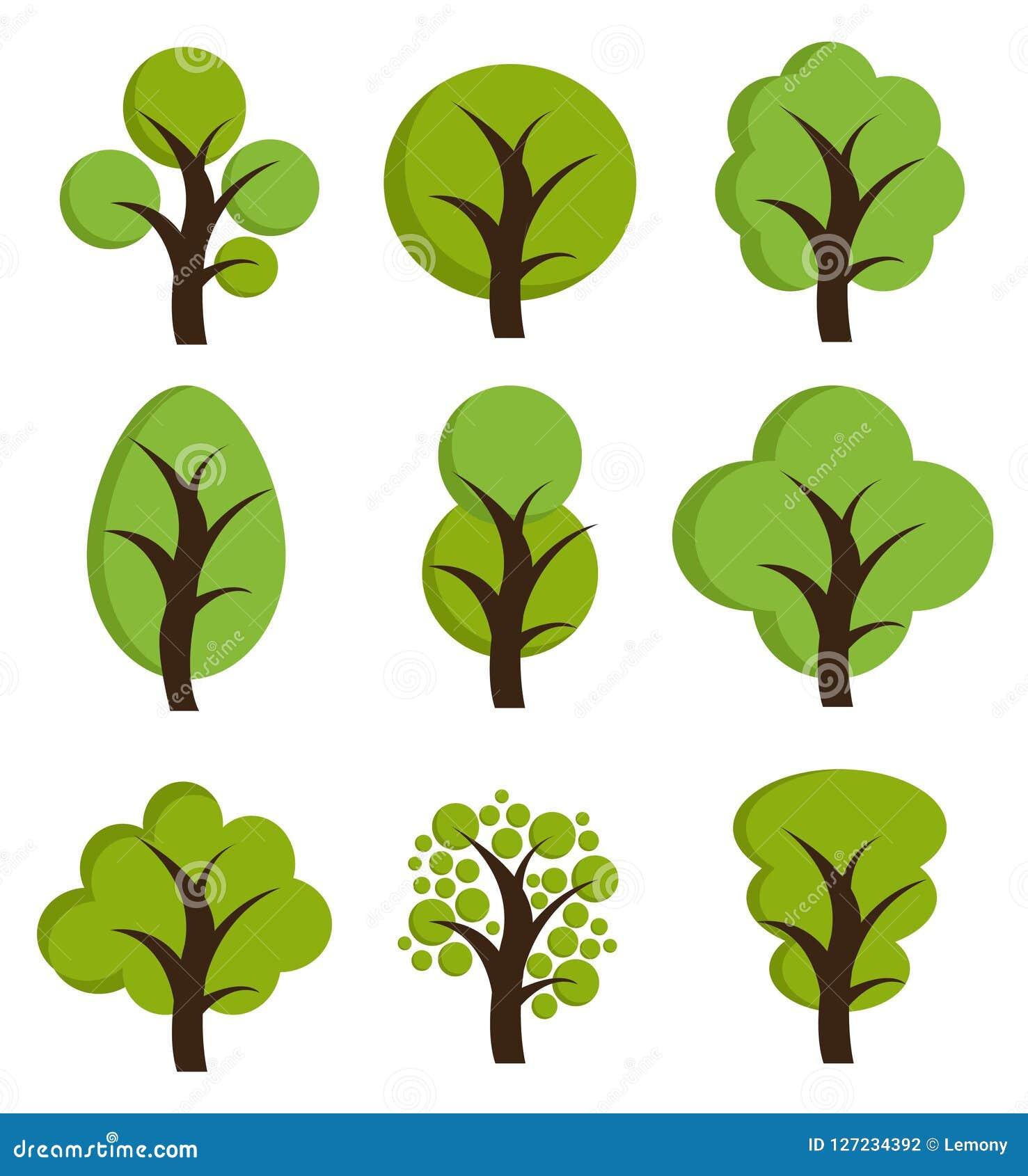 Iconos del árbol, sistema de árboles