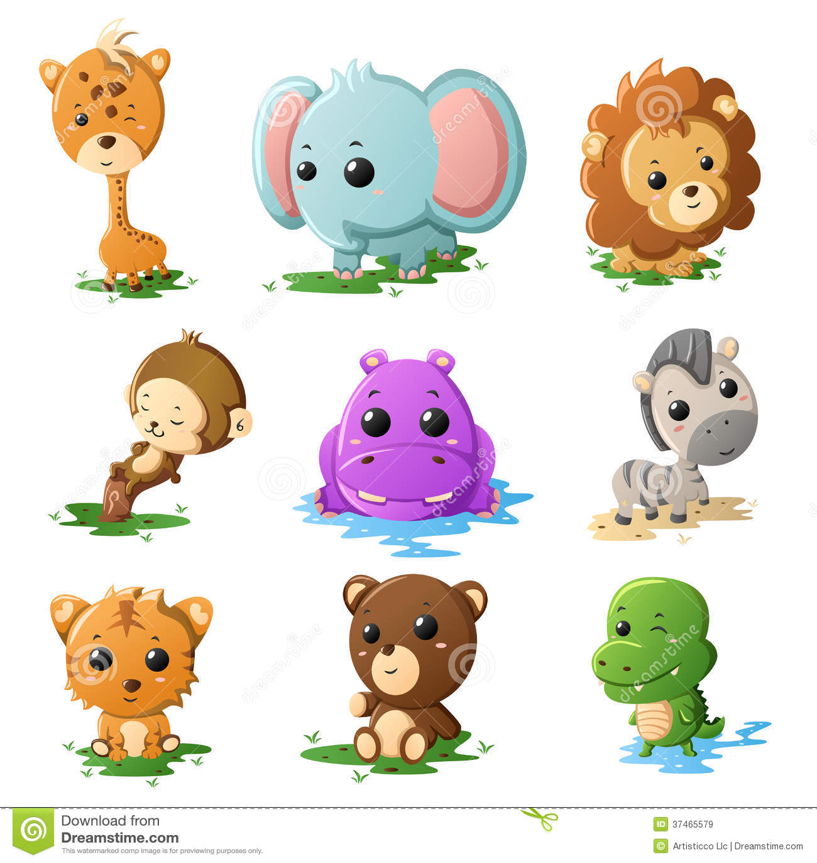 Iconos del animal de la fauna de la historieta