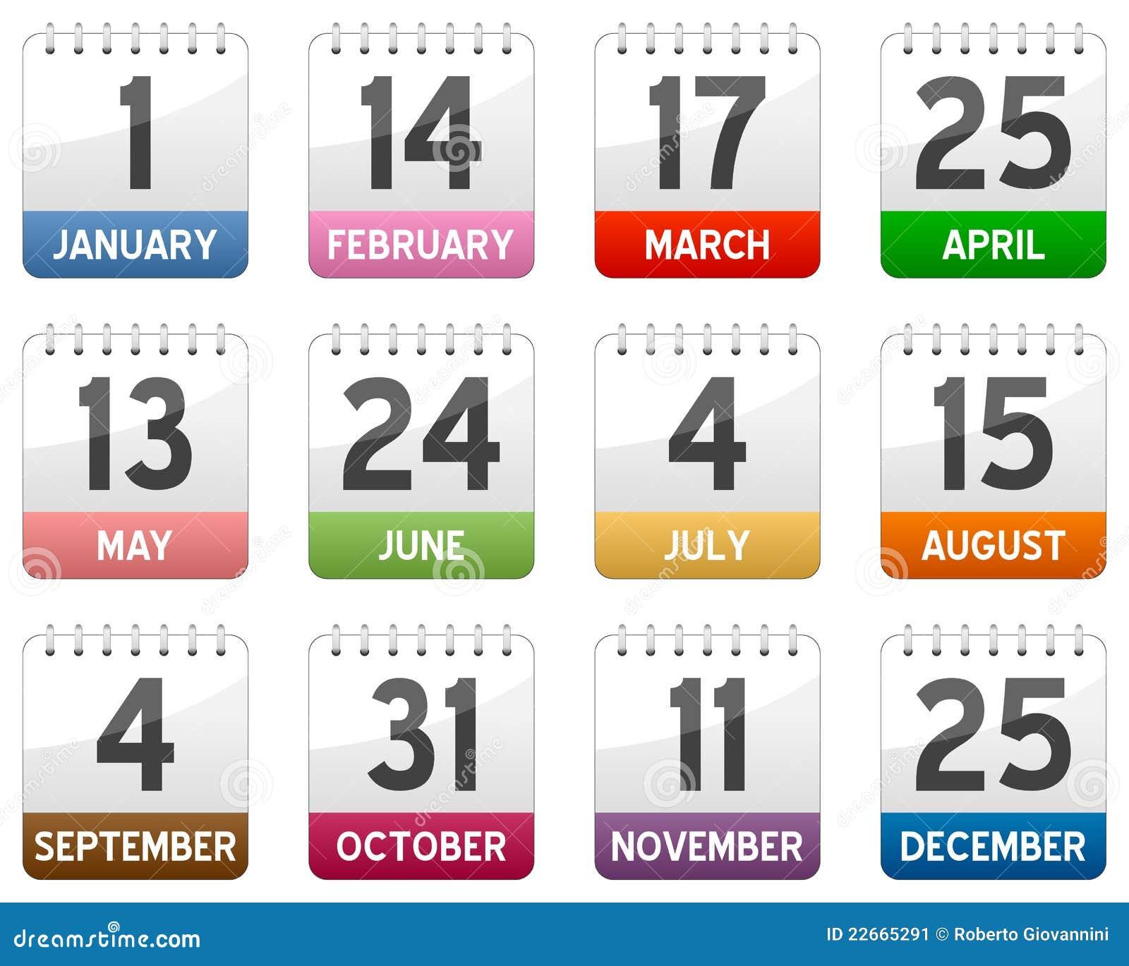 Iconos del calendario fijados