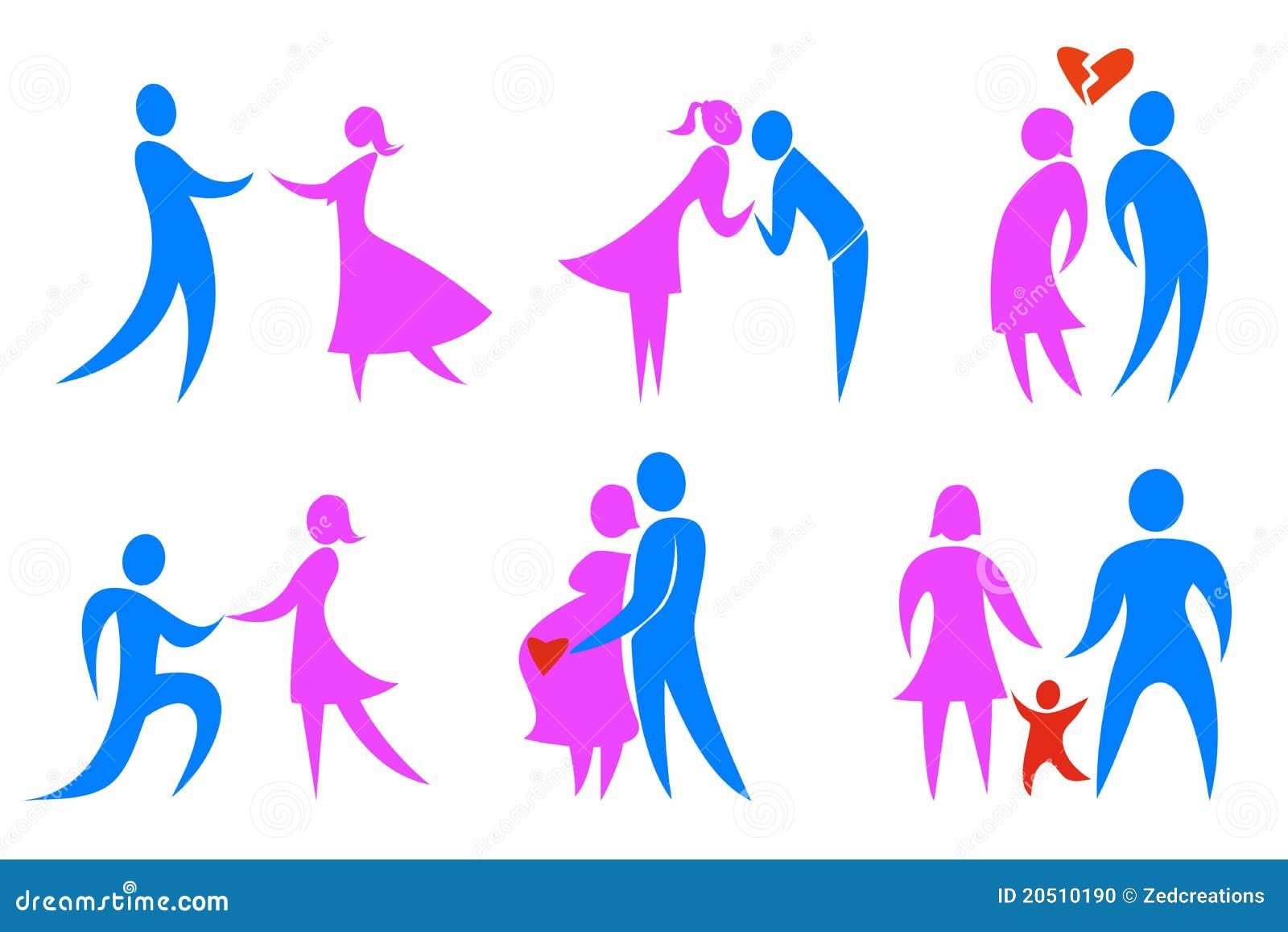 Iconos del concepto de familia