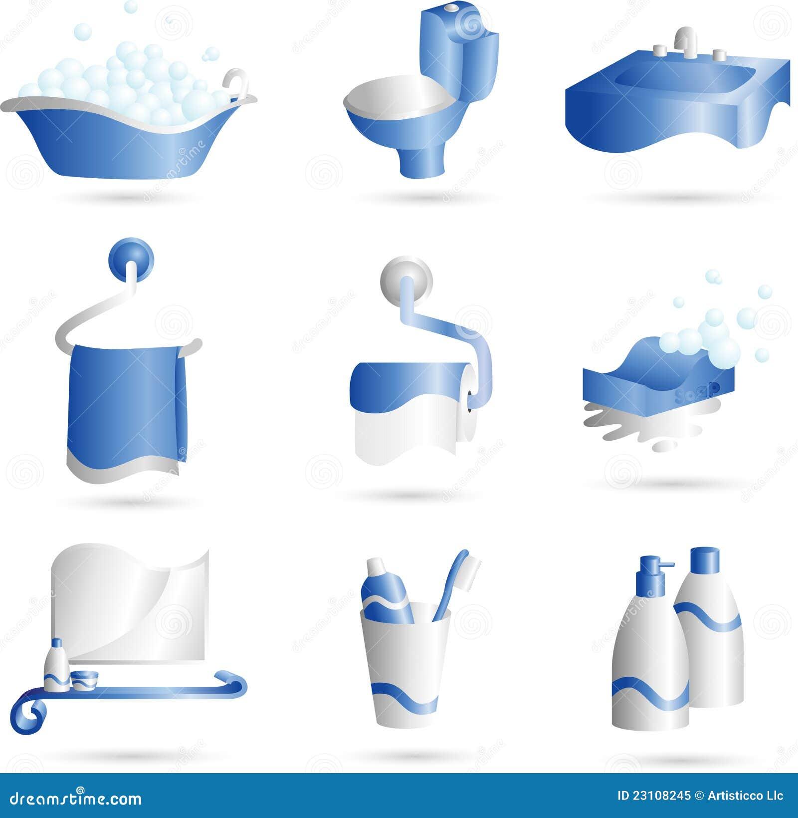 Iconos del cuarto de ba o for Cosas de bano con b
