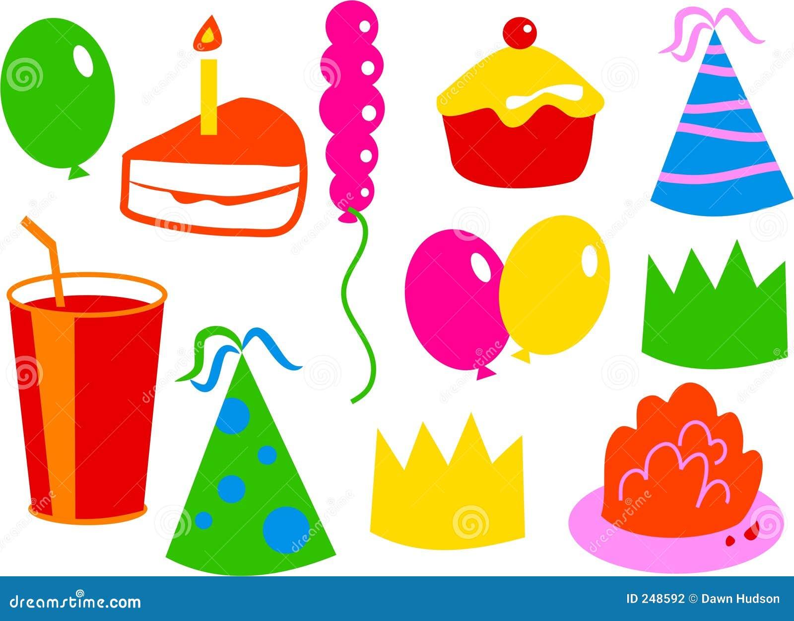 Iconos del cumplea os fotograf a de archivo imagen 248592 - Cosas para fiestas de cumpleanos ...