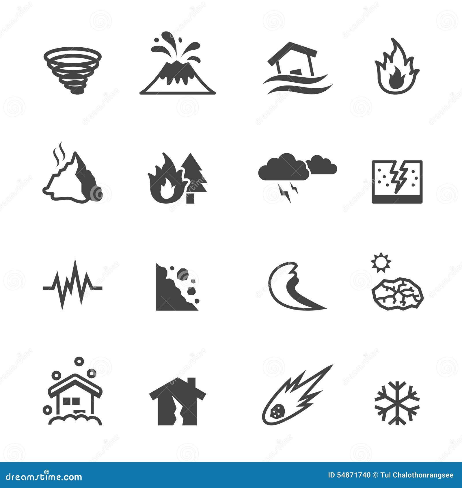Iconos del desastre natural