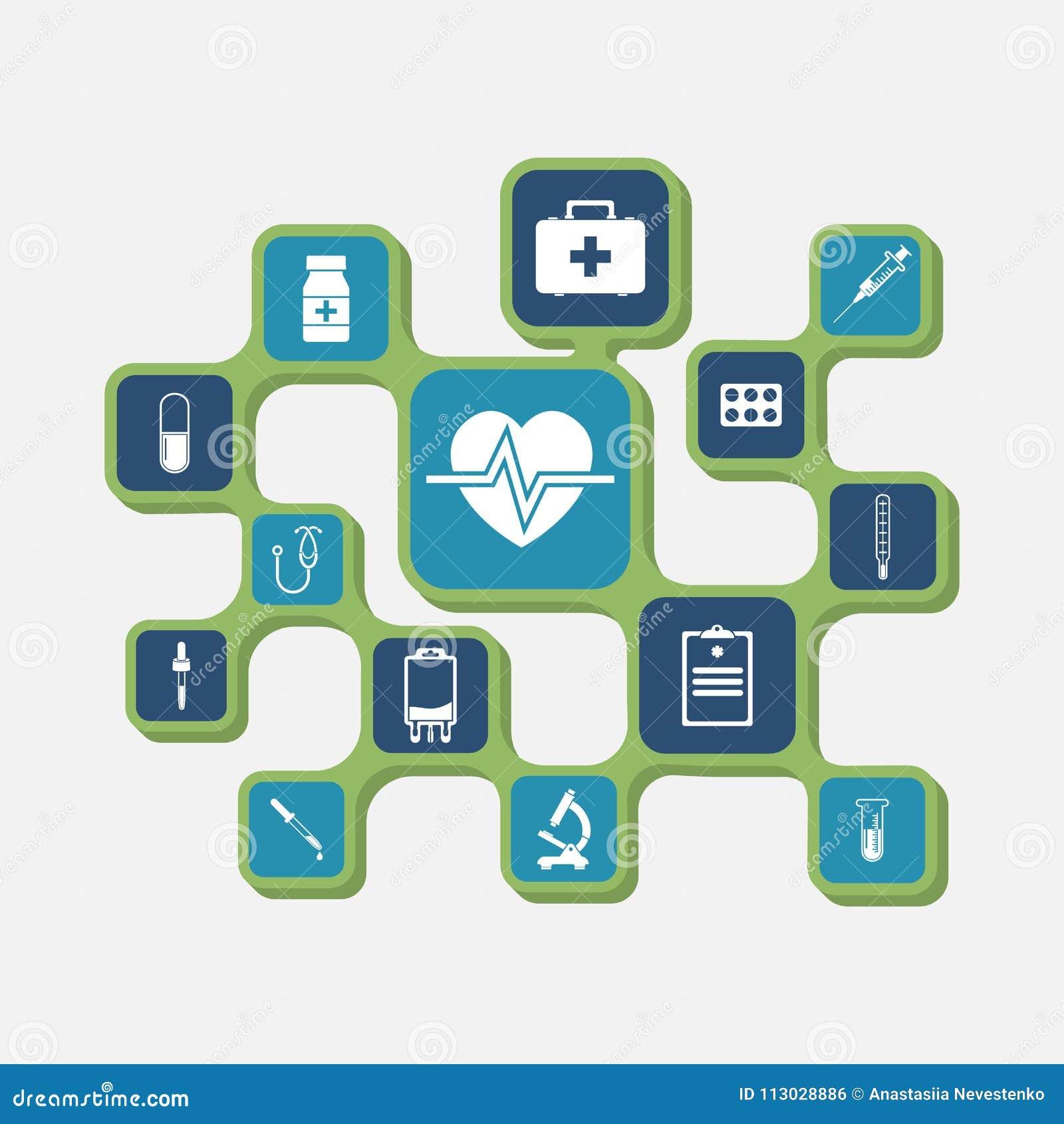 Iconos del equipamiento médico