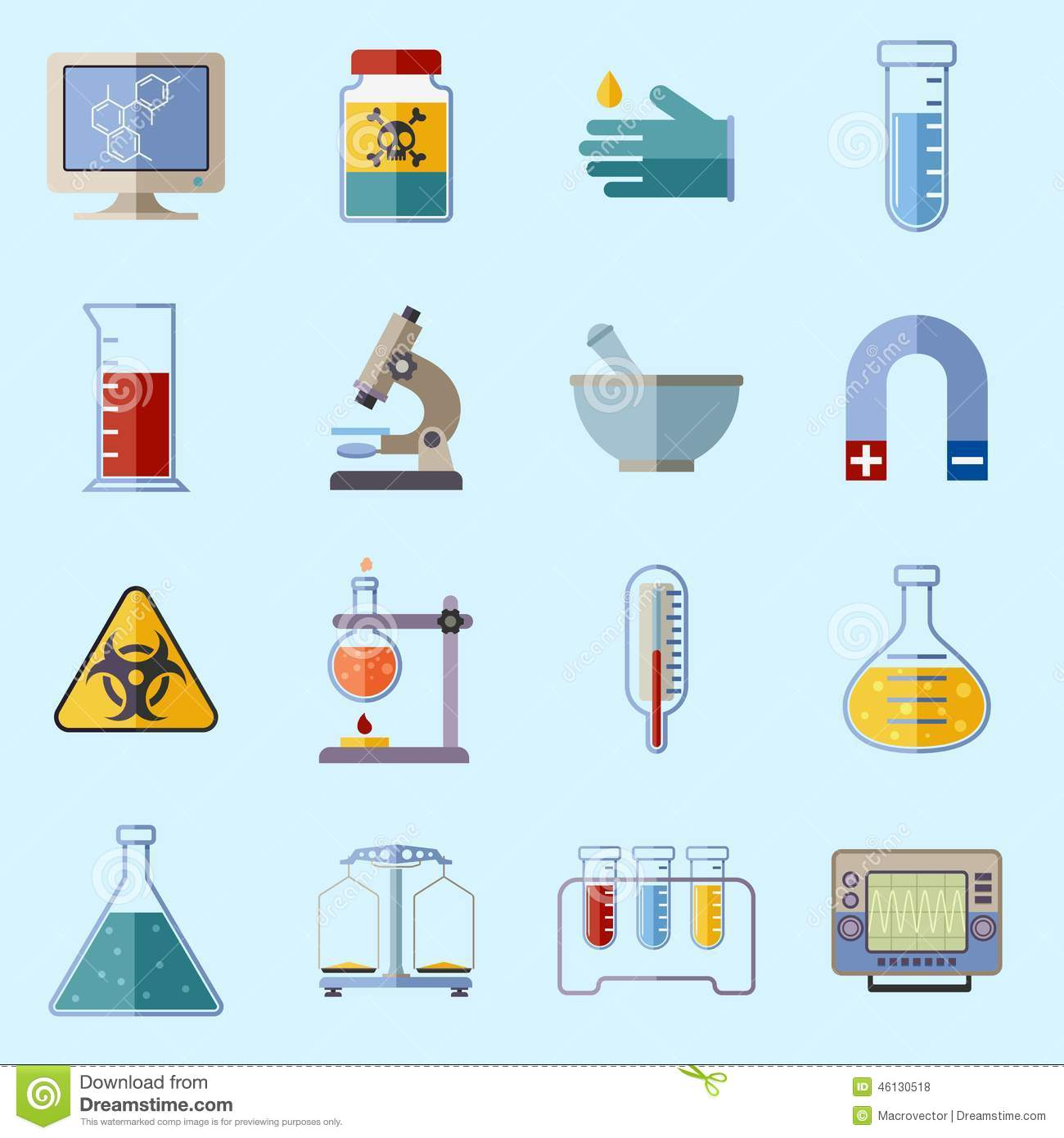 Iconos del equipo de laboratorio ilustraci n del vector for Equipos de laboratorio
