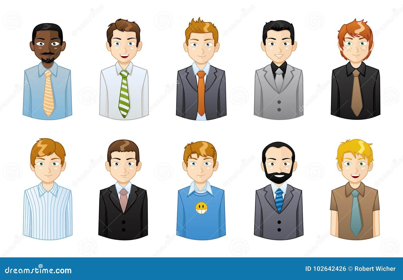 Iconos del hombre de negocios