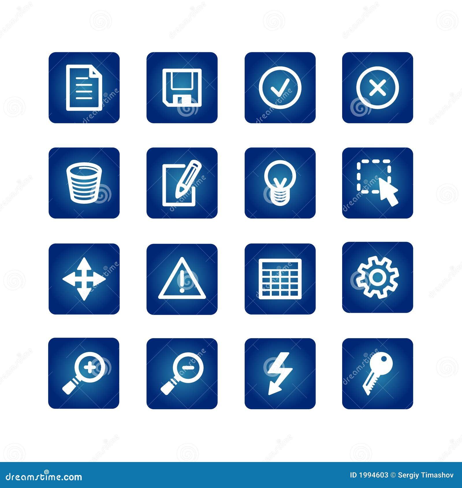 Iconos del interfaz fijados