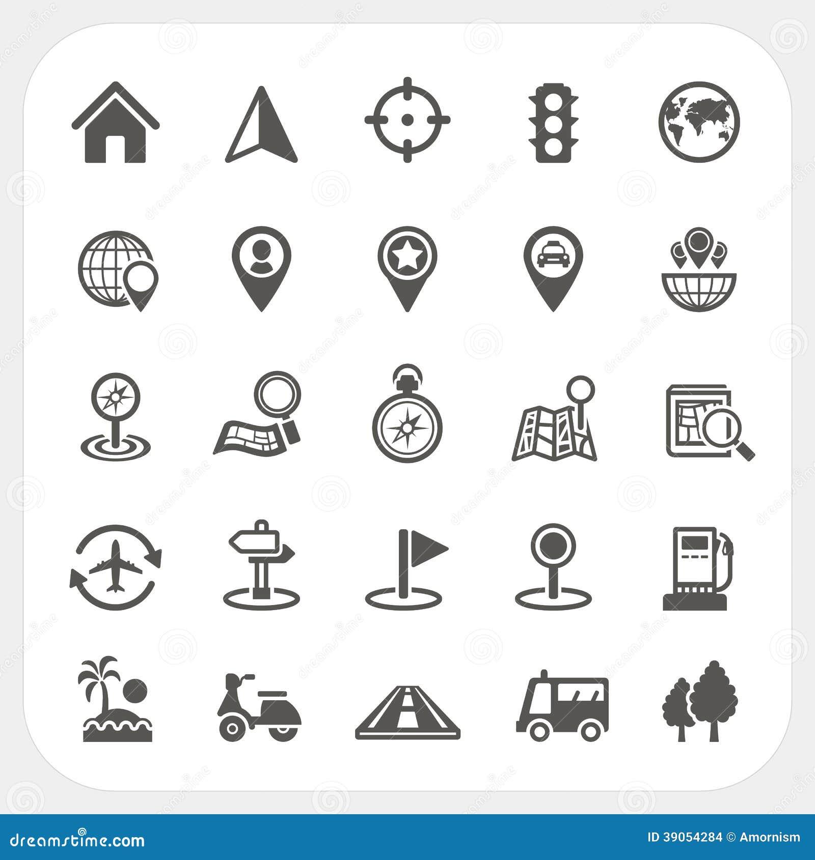 Iconos del mapa y de la ubicación fijados
