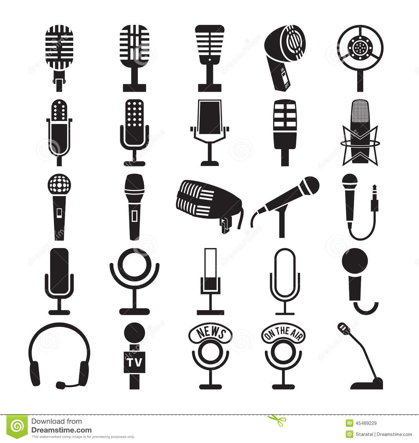 Iconos del micrófono fijados