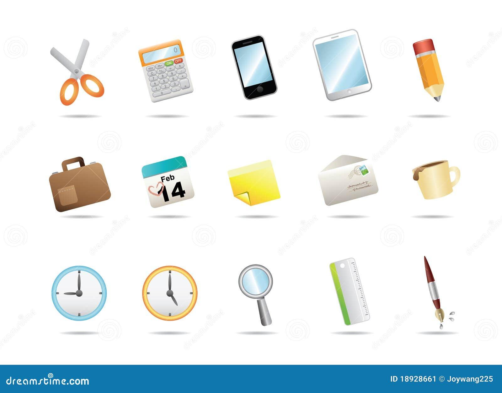 Iconos del papel de la oficina imagen de archivo imagen for Papel para oficina