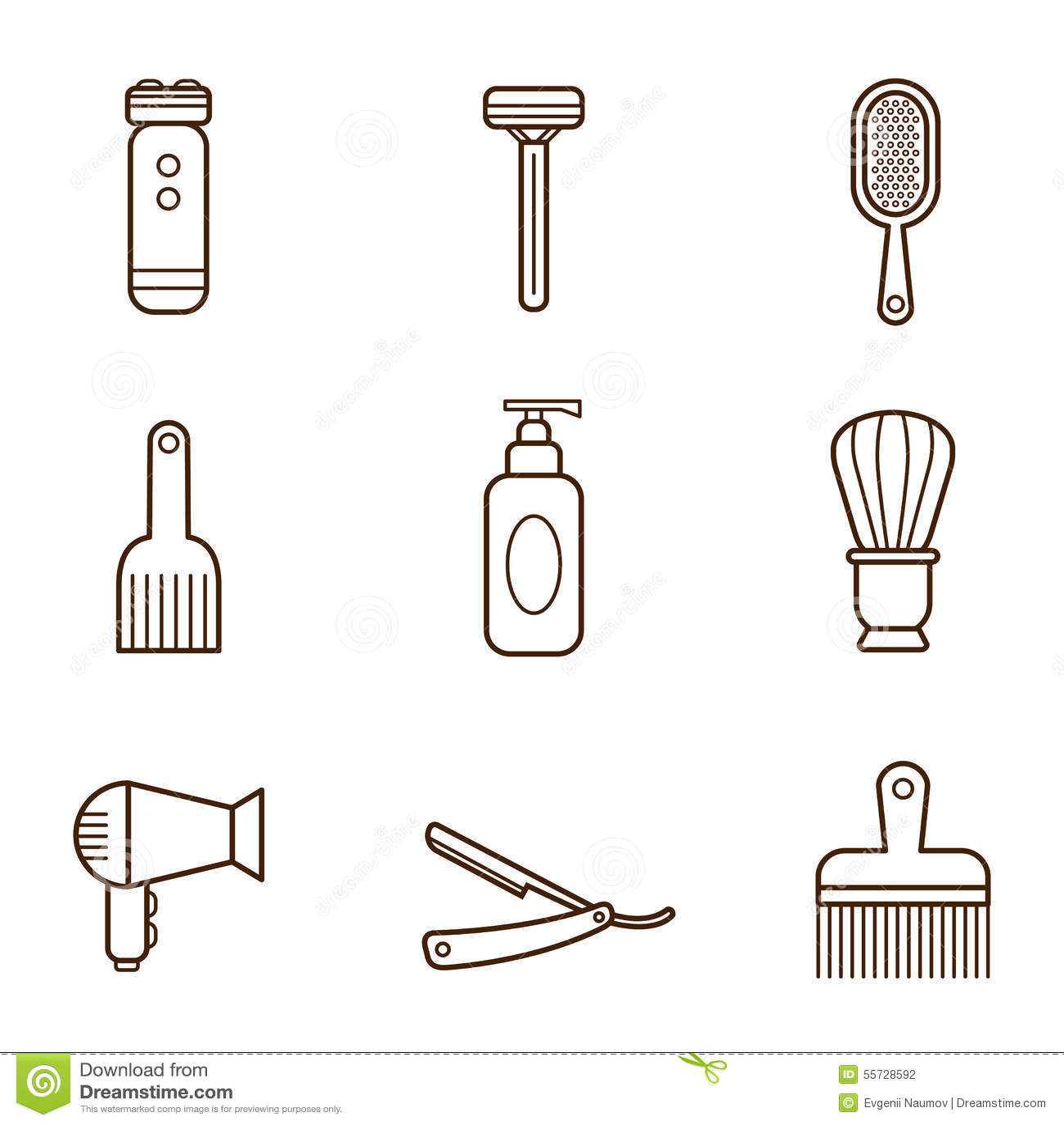 Iconos del peluquero