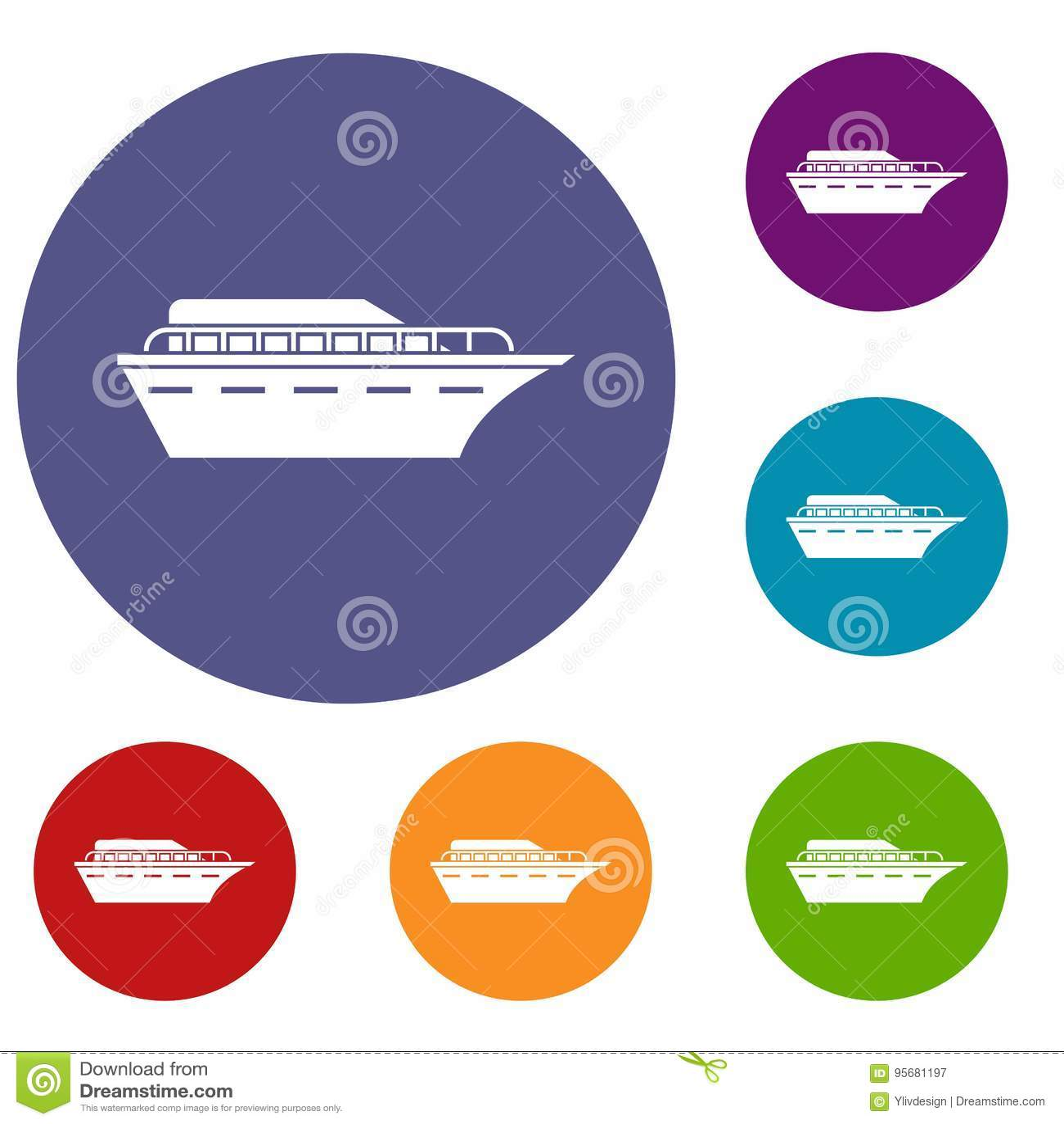 Iconos del Powerboat fijados