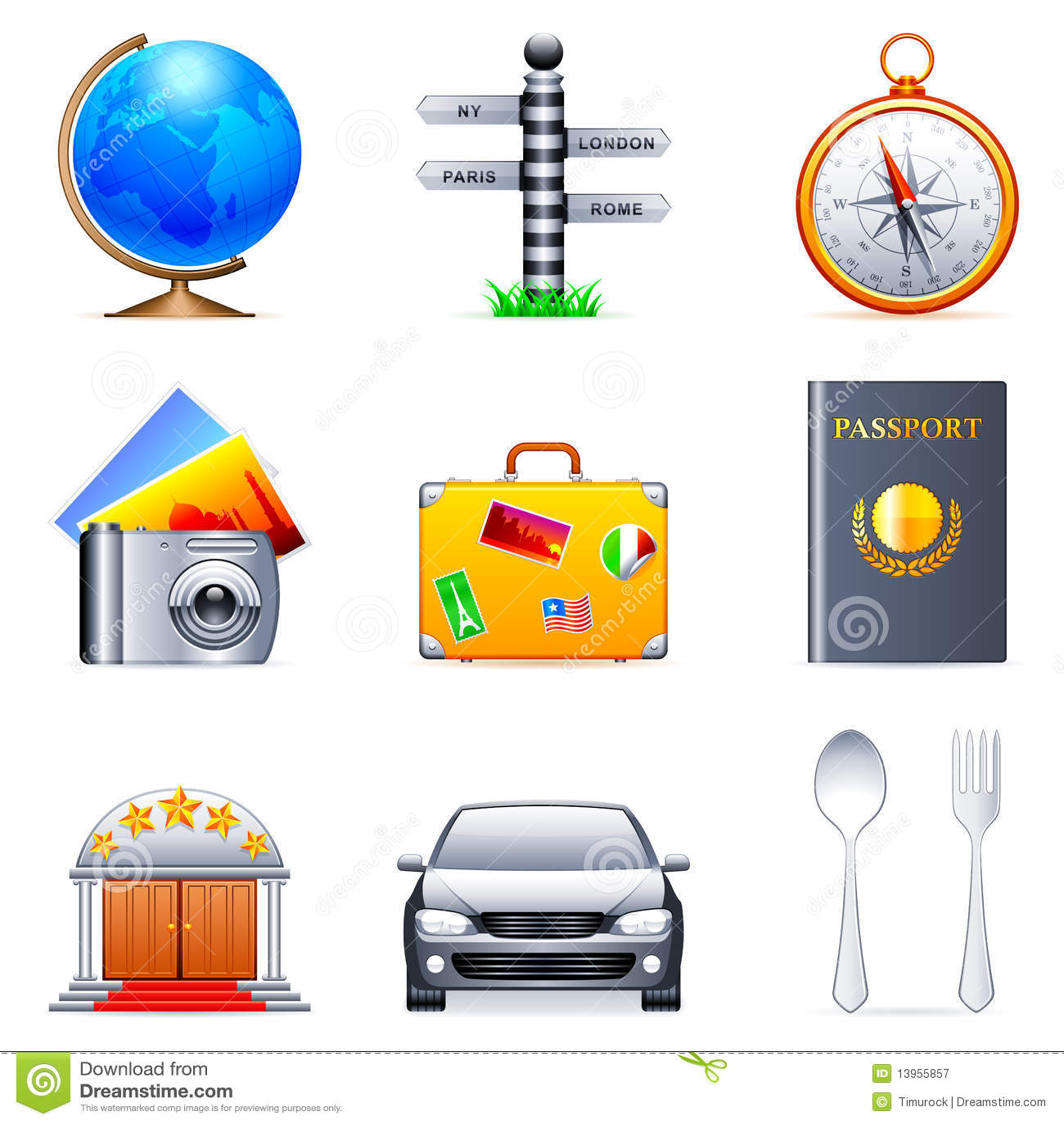 Iconos del recorrido.