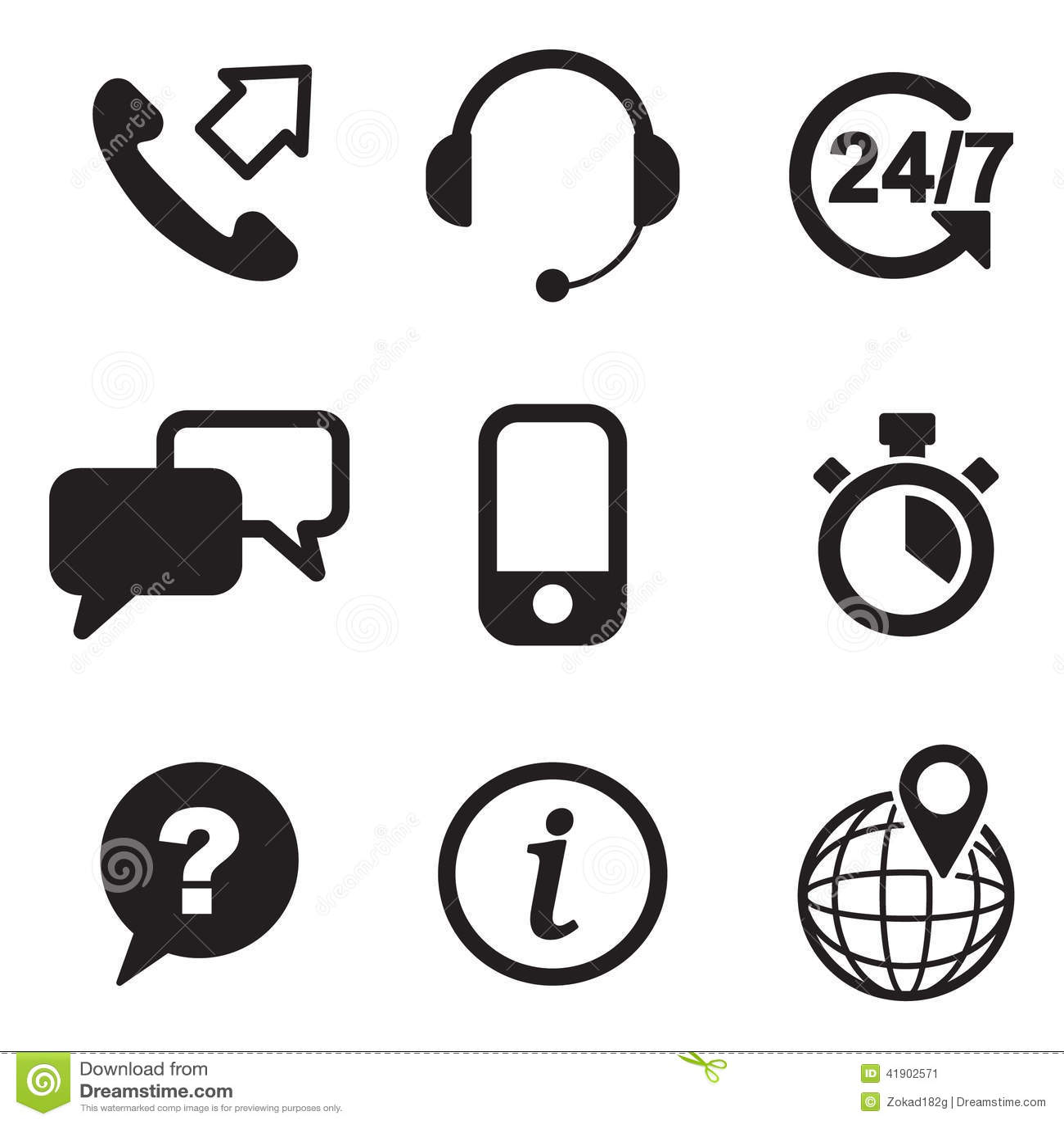 Iconos del servicio de atención al cliente