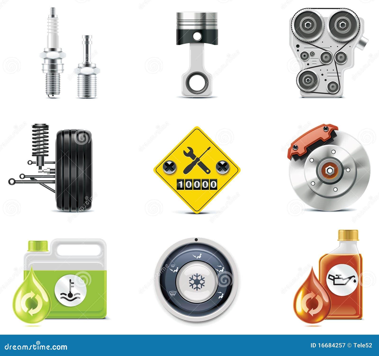 Iconos del servicio del coche. Parte 3
