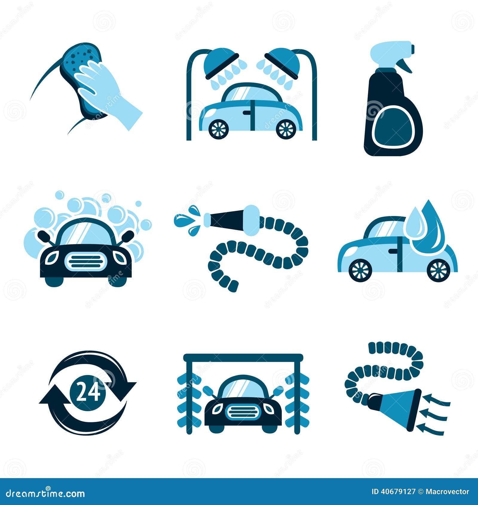 Iconos del túnel de lavado ilustración del vector. Ilustración de ...