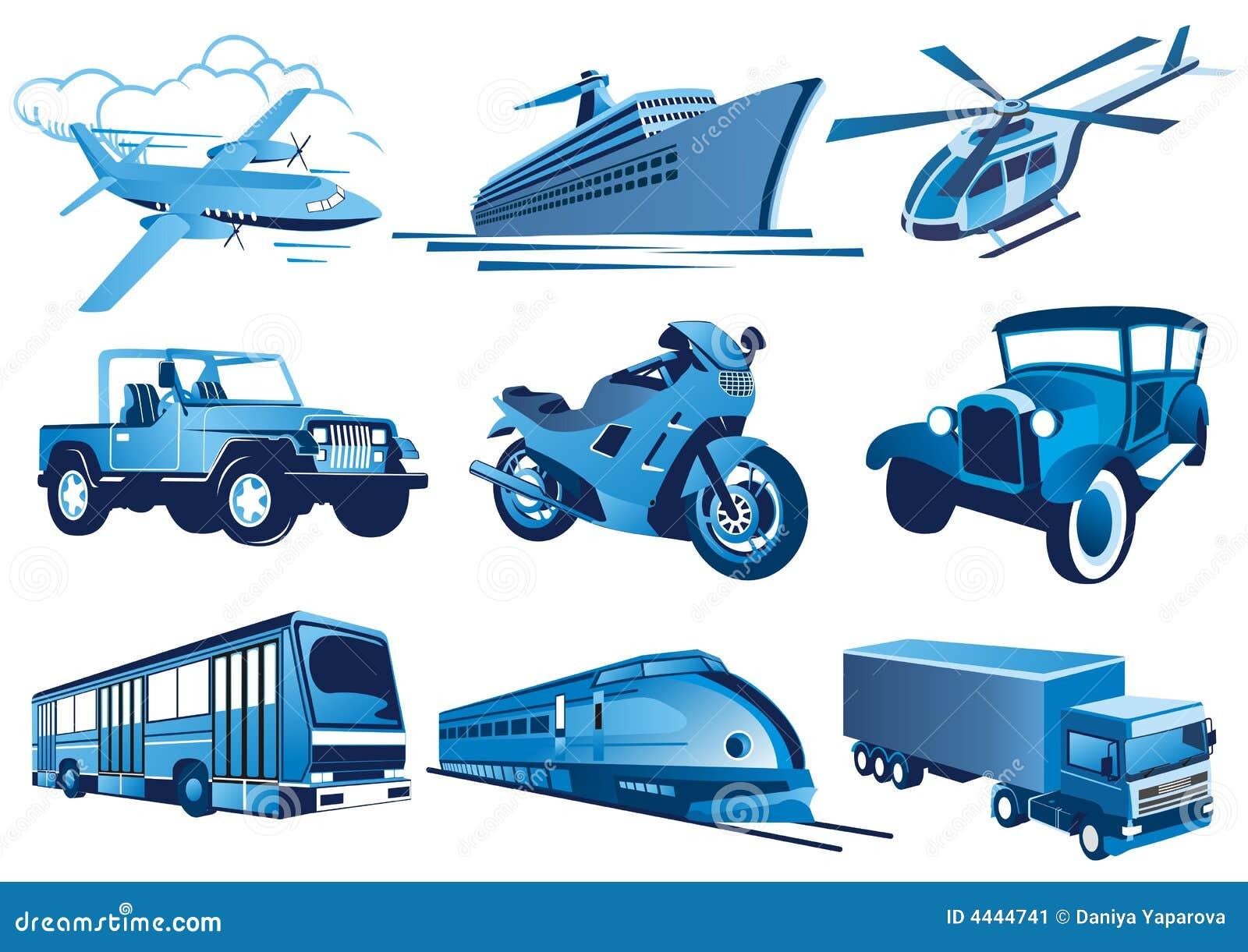 Iconos Del Transporte Imagen De Archivo Imagen 4444741