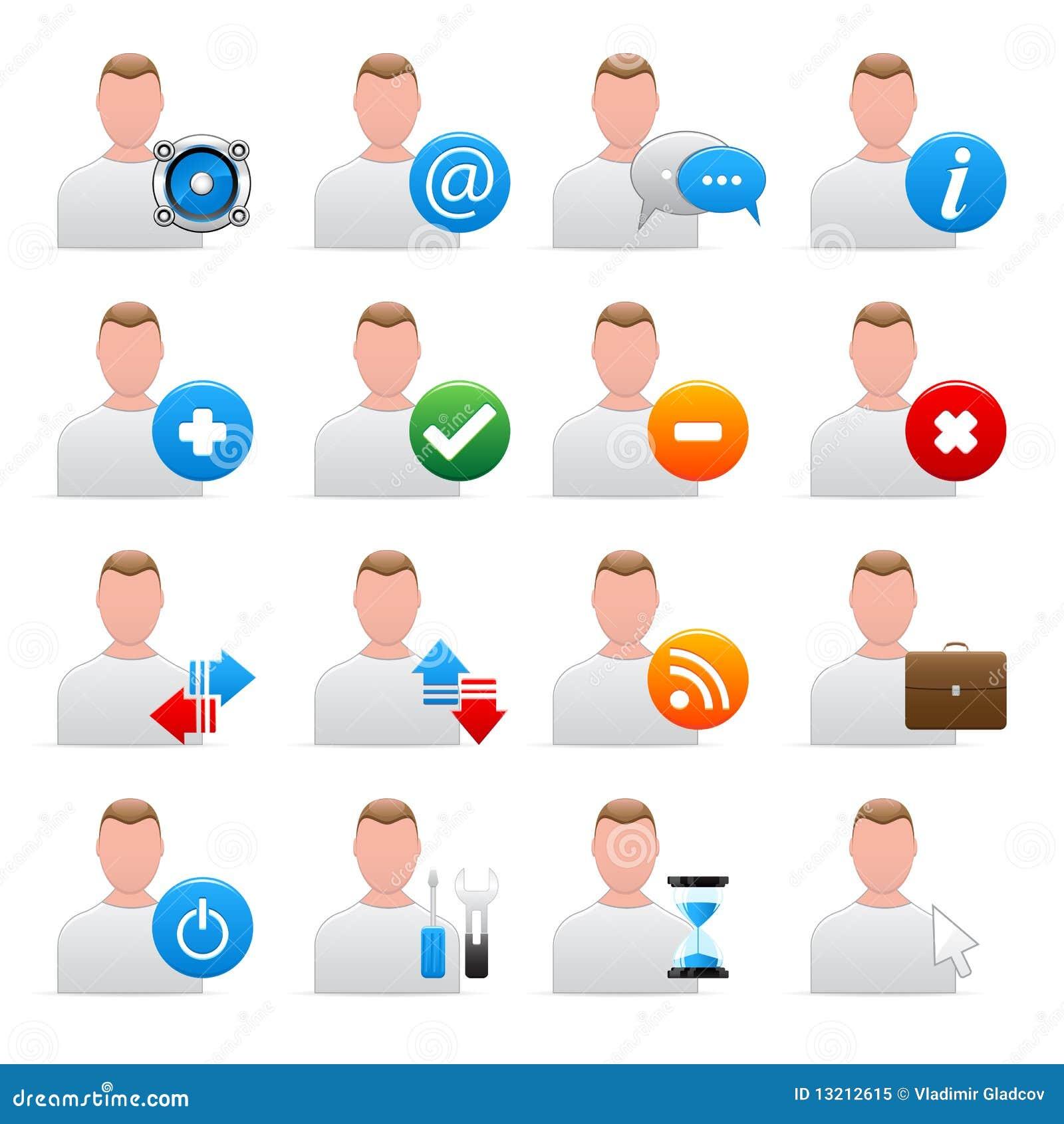 Iconos del utilizador del vector
