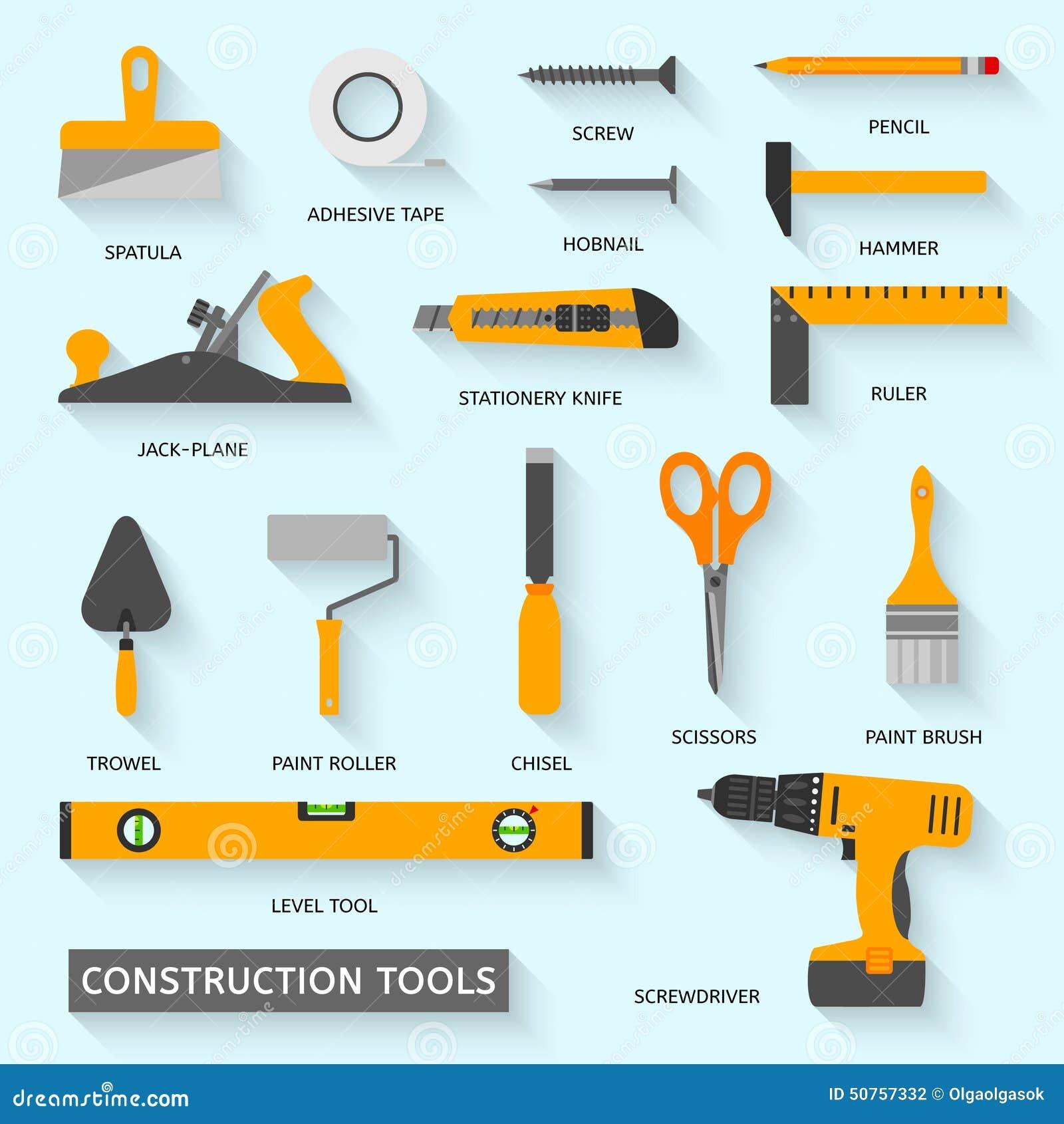 Iconos del vector de las herramientas de la construcci n - Herramientas de carpinteria nombres ...