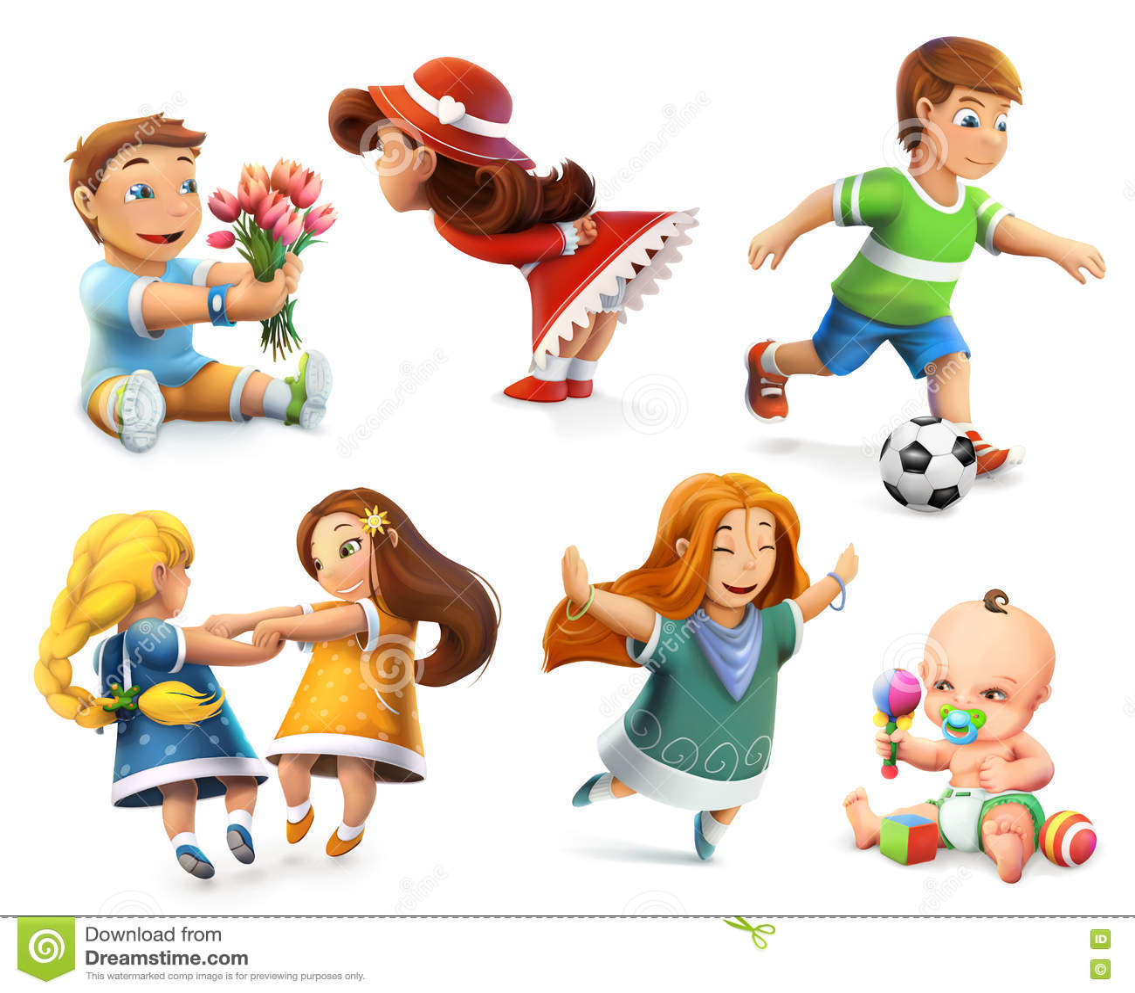 Iconos del vector de los niños