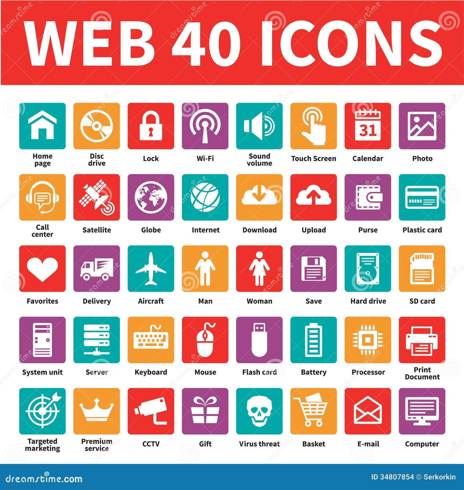 Iconos del vector del web 40