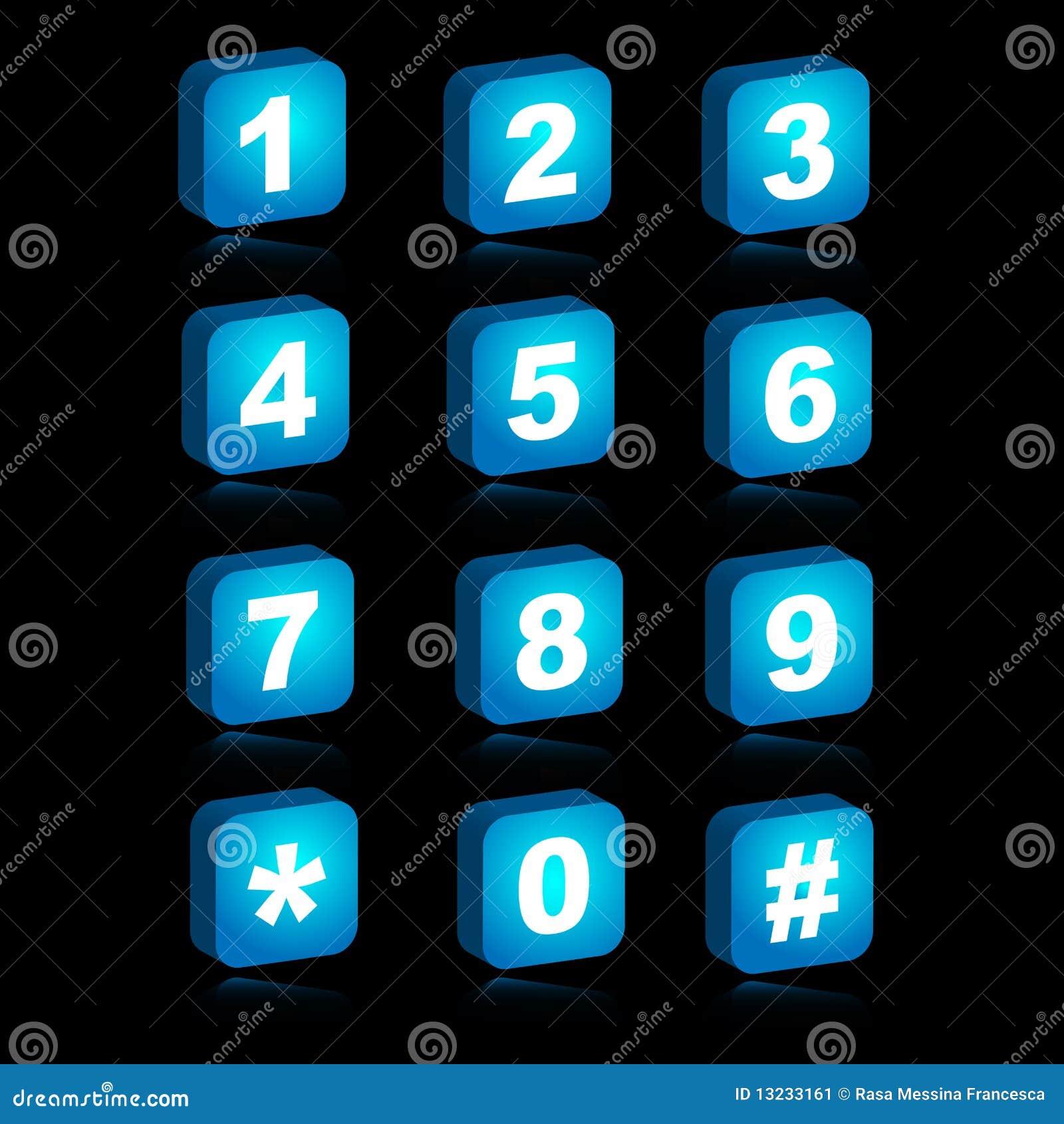 Iconos del Web 3D - números